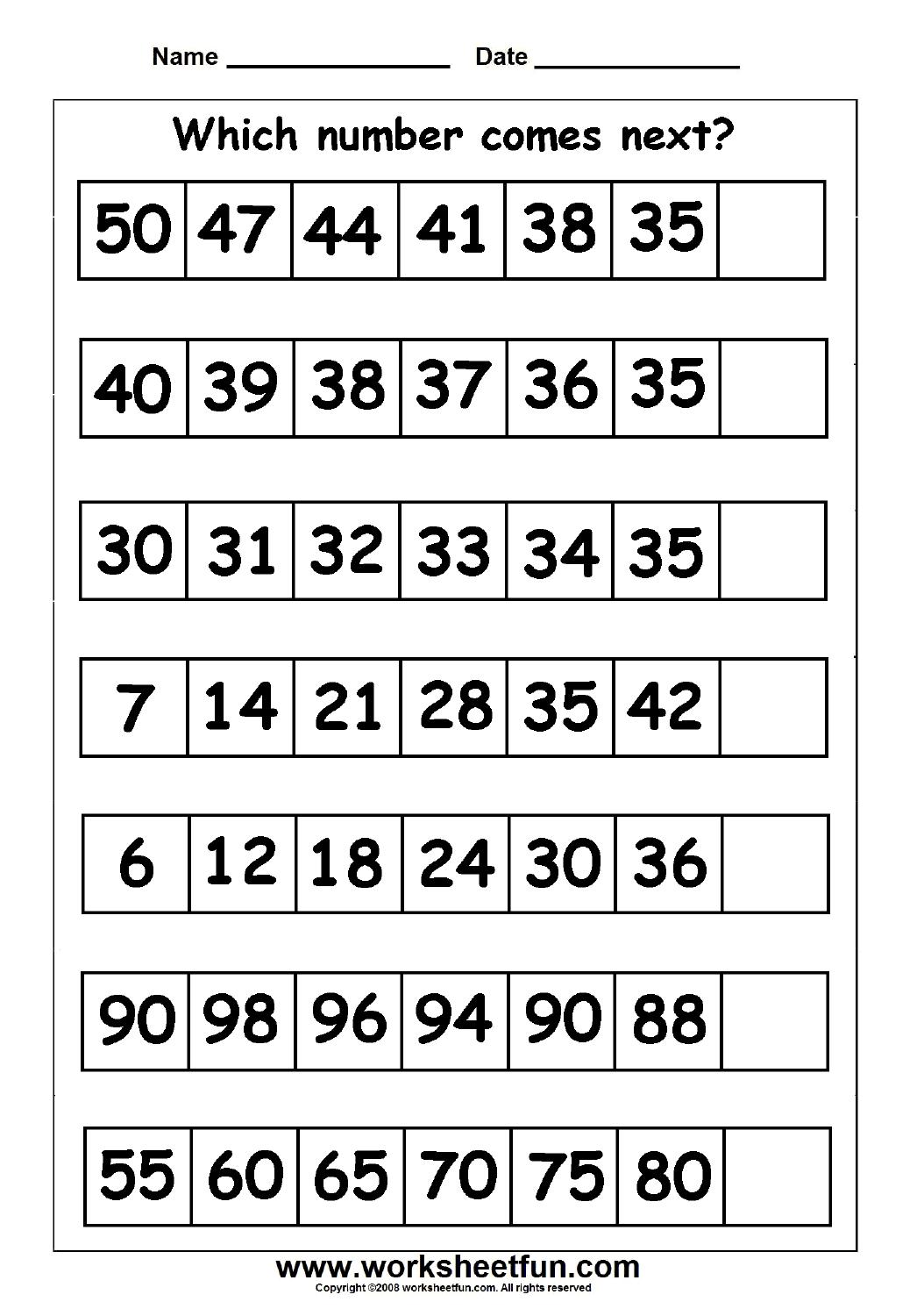 Skip Counting Missing Numbers 9 Worksheets Free Printable Worksheets Worksheetfun