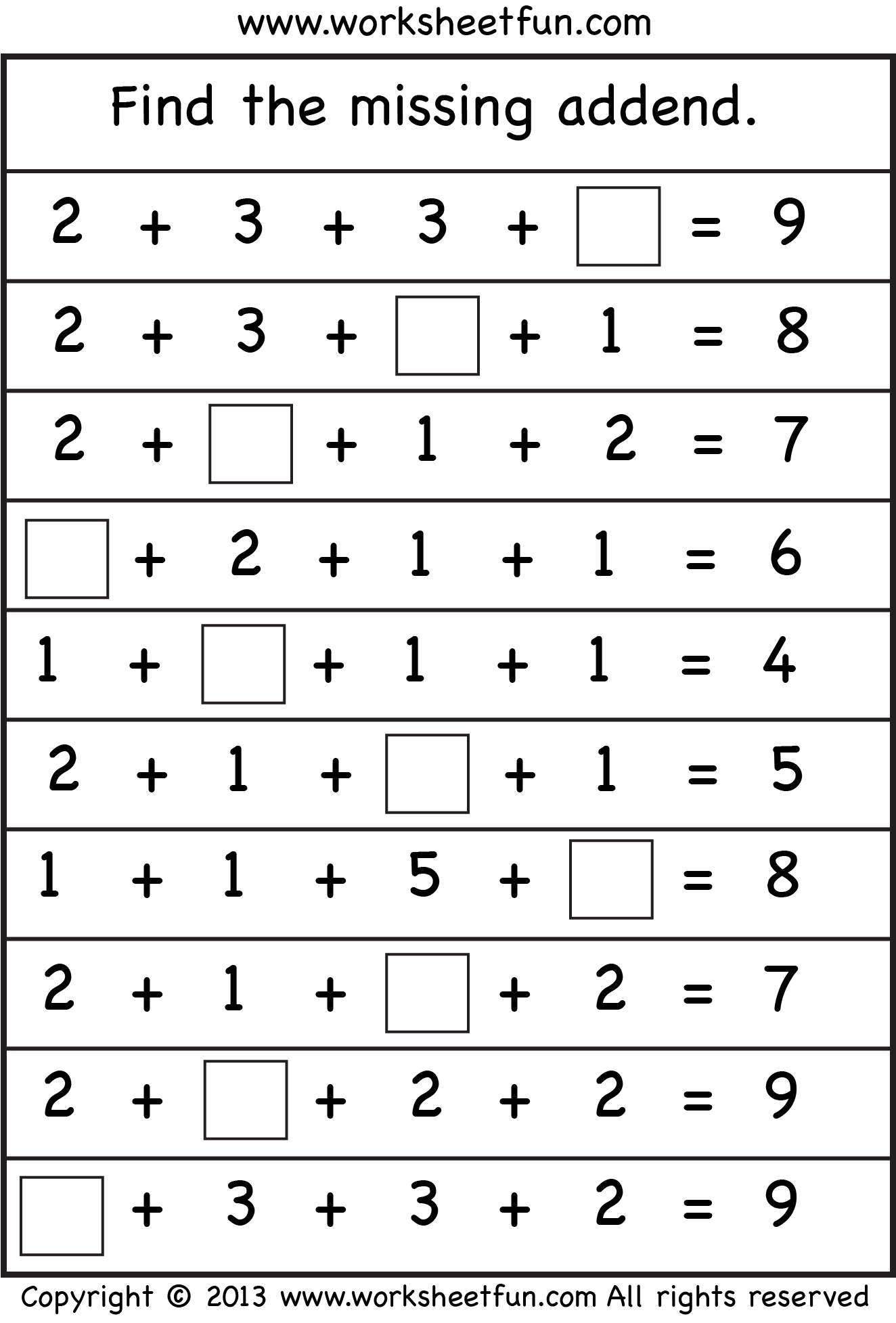 Missing Number Worksheet New 895 Kindergarten Missing