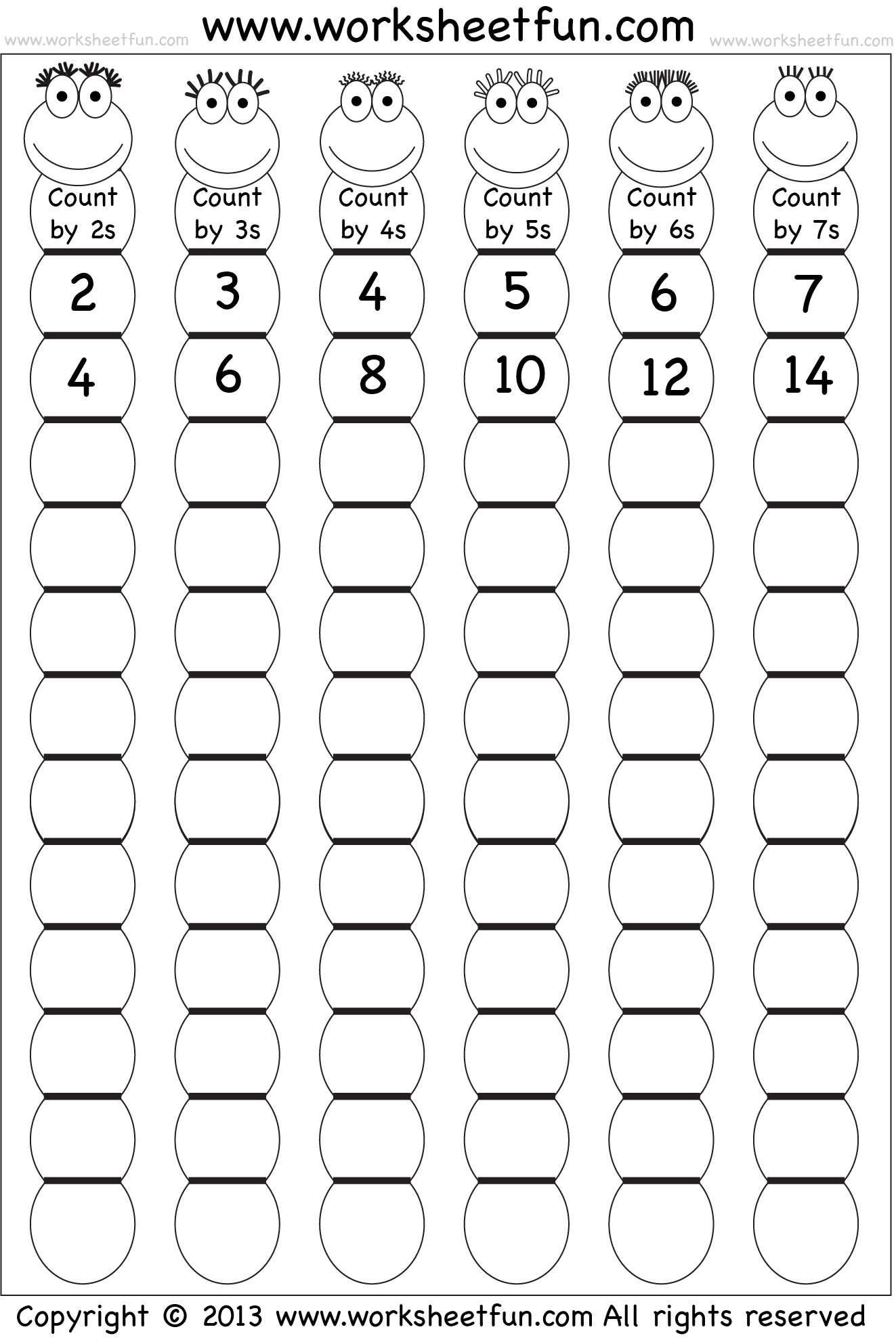 Skip Counting By 2 3 4 5 6 And 7 Worksheet Free