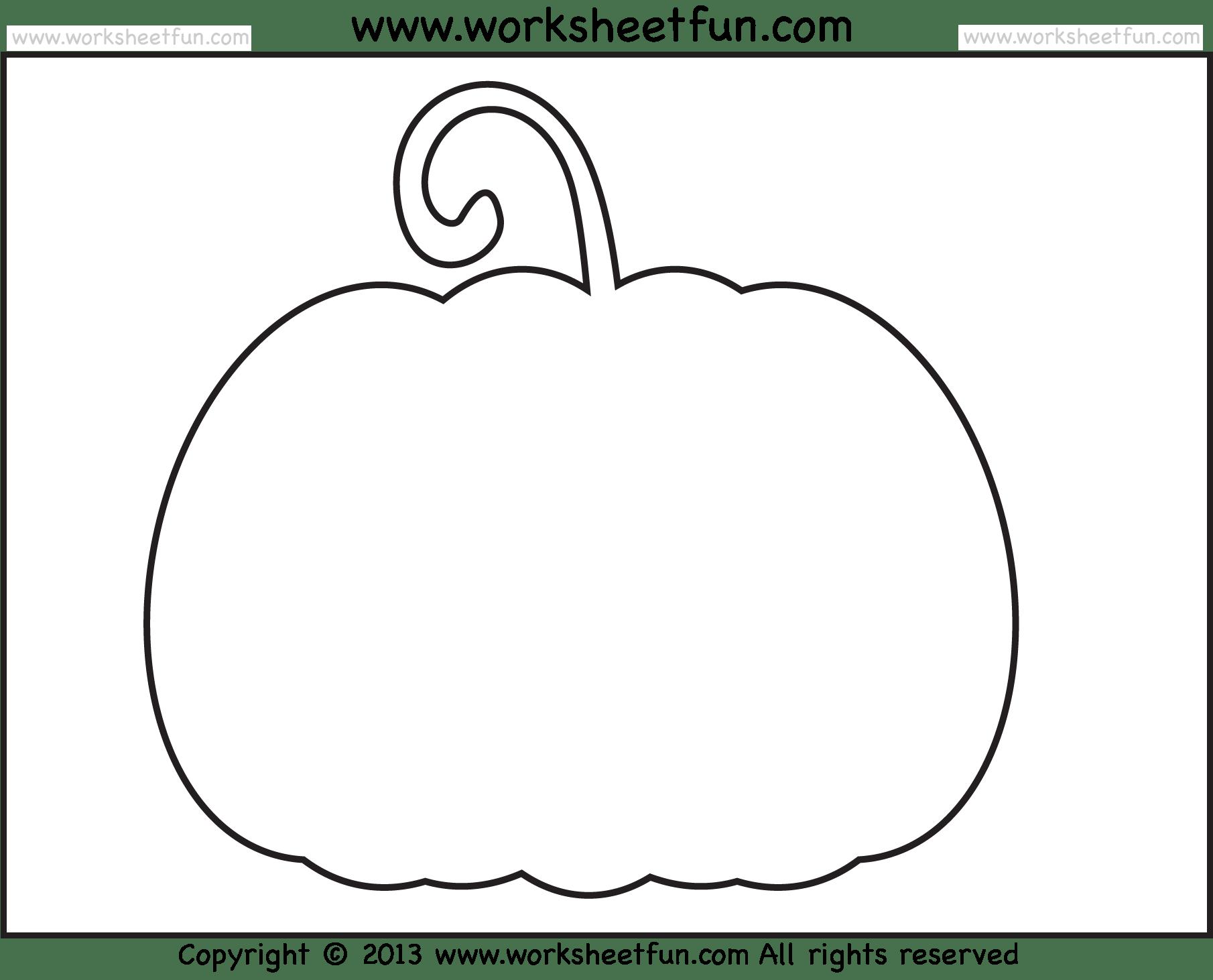 Halloween Printable Stencils For Pumpkin 2 Worksheets