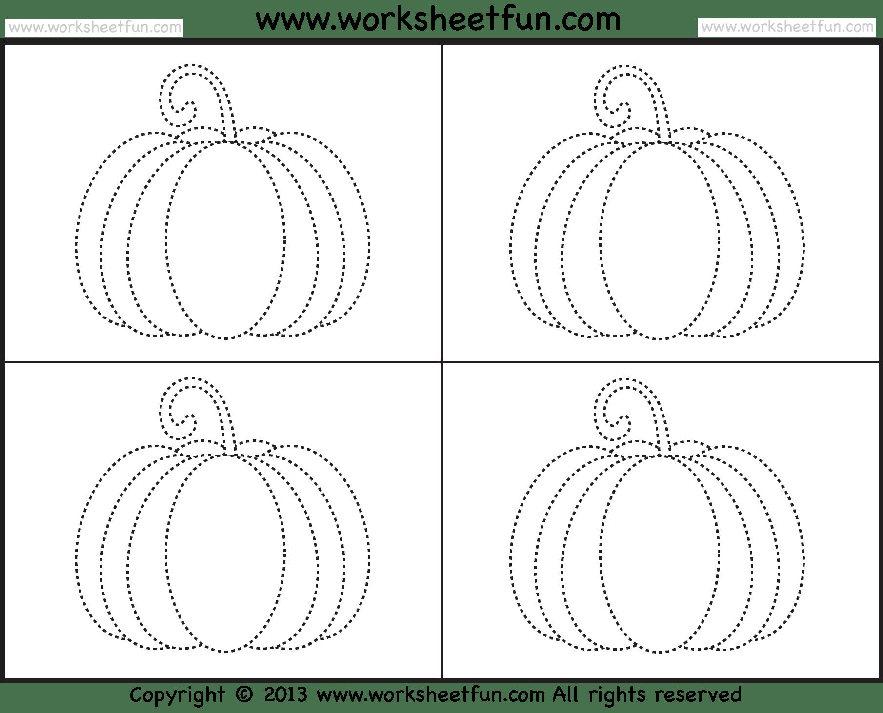 Preschool Counting Worksheet About Pumkin