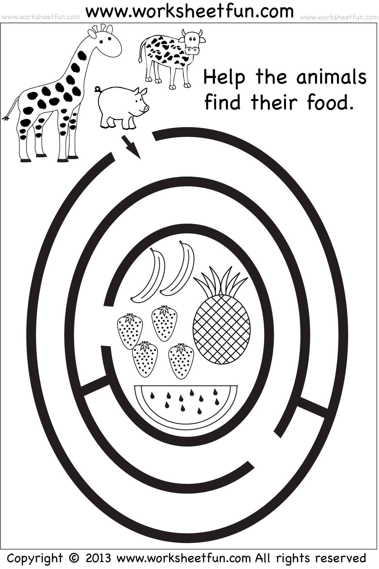 Worksheets Ant Maze Printable Free