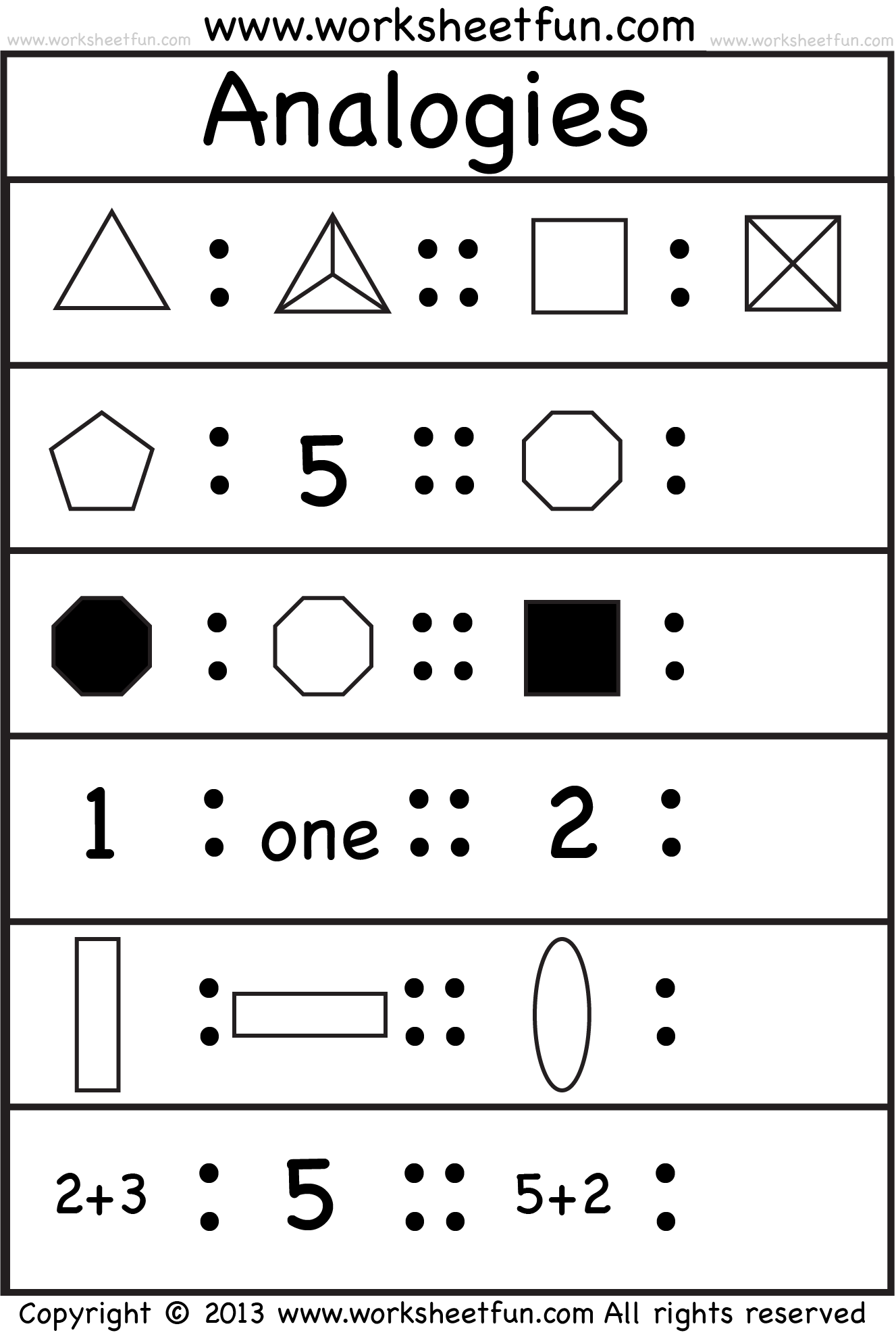Pictureogies 4 Worksheets Free Printable