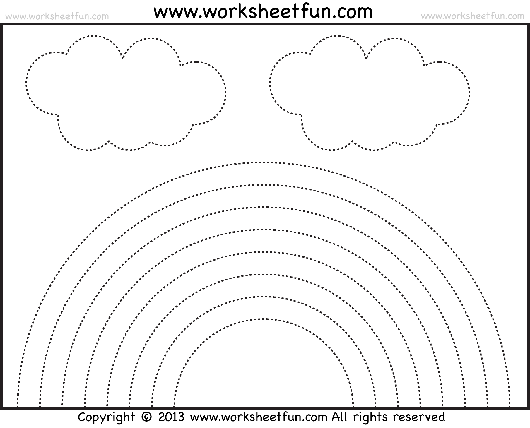Rainbow Tracing And Coloring 4 Preschool Worksheets Free Printable Worksheets Worksheetfun