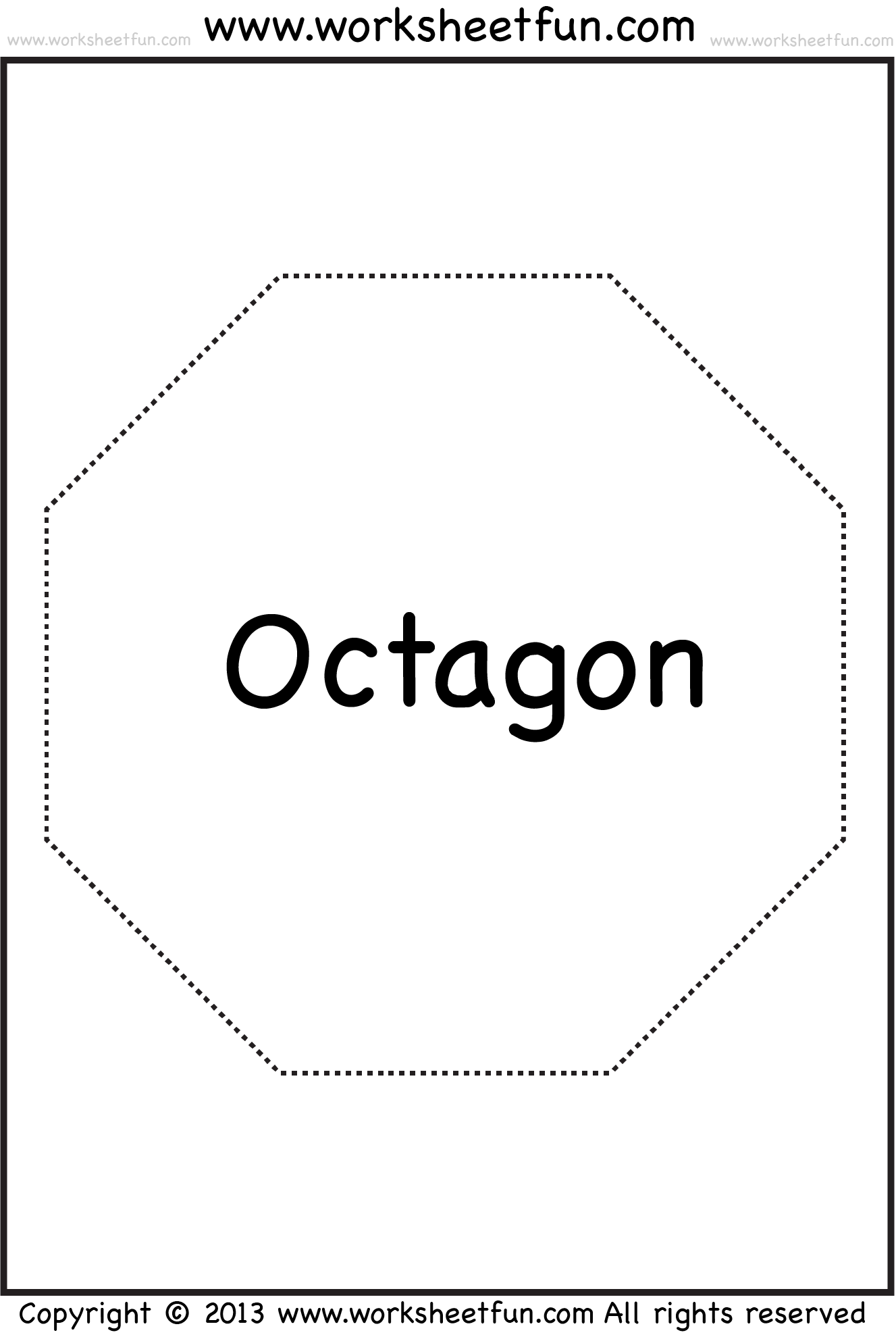 Shapes Pentagon Hexagon Heptagon Octagon Nonagon