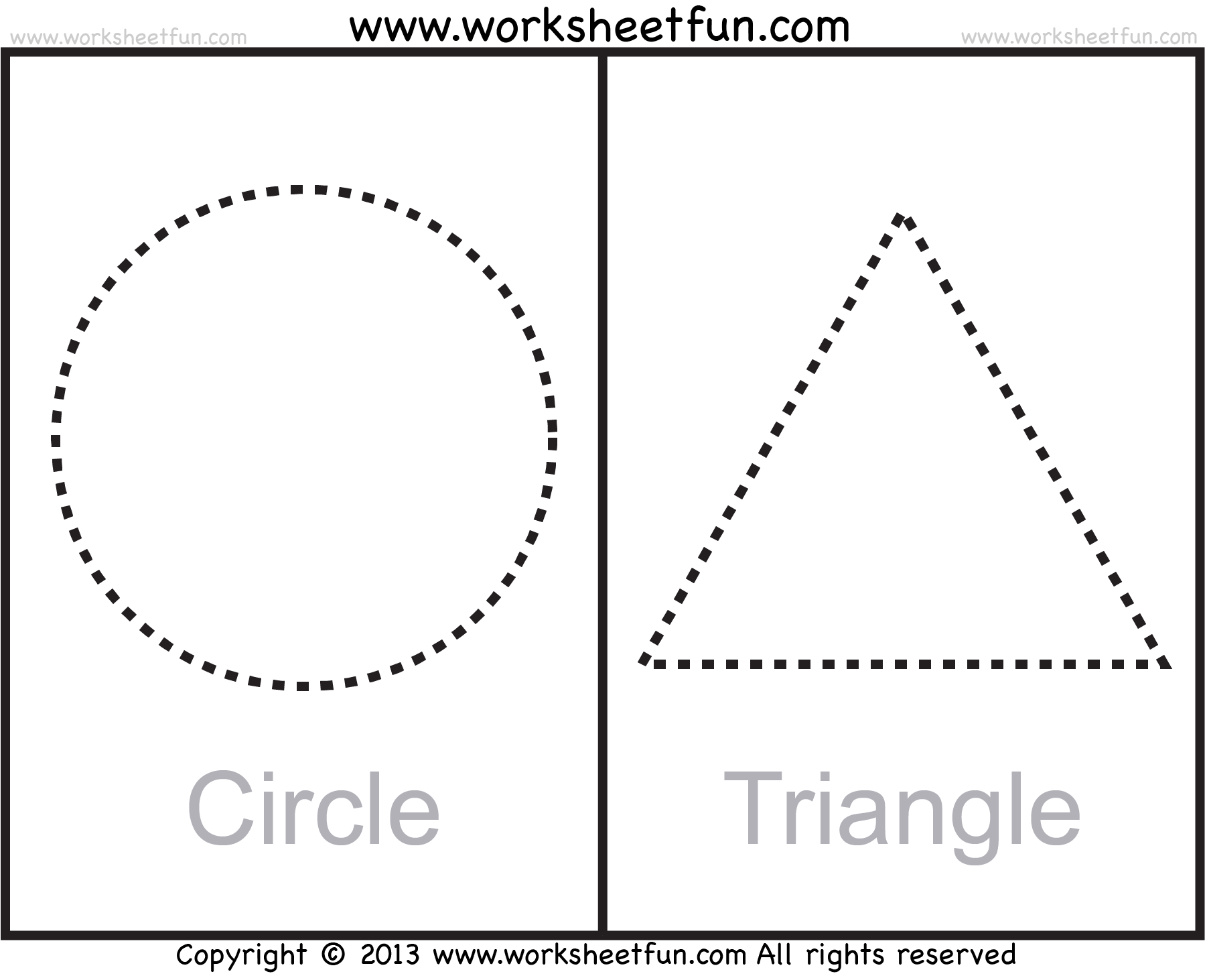 Shapes Circle Triangle Square Rectangle Rhombus Oval 9 Worksheets Free Printable