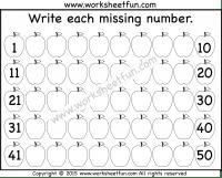 Numbers 1 50 Free Printable Worksheets Worksheetfun