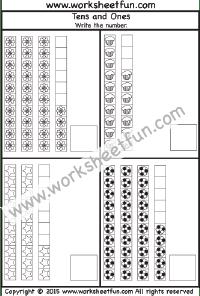 Numbers Tens And Ones Free Printable Worksheets