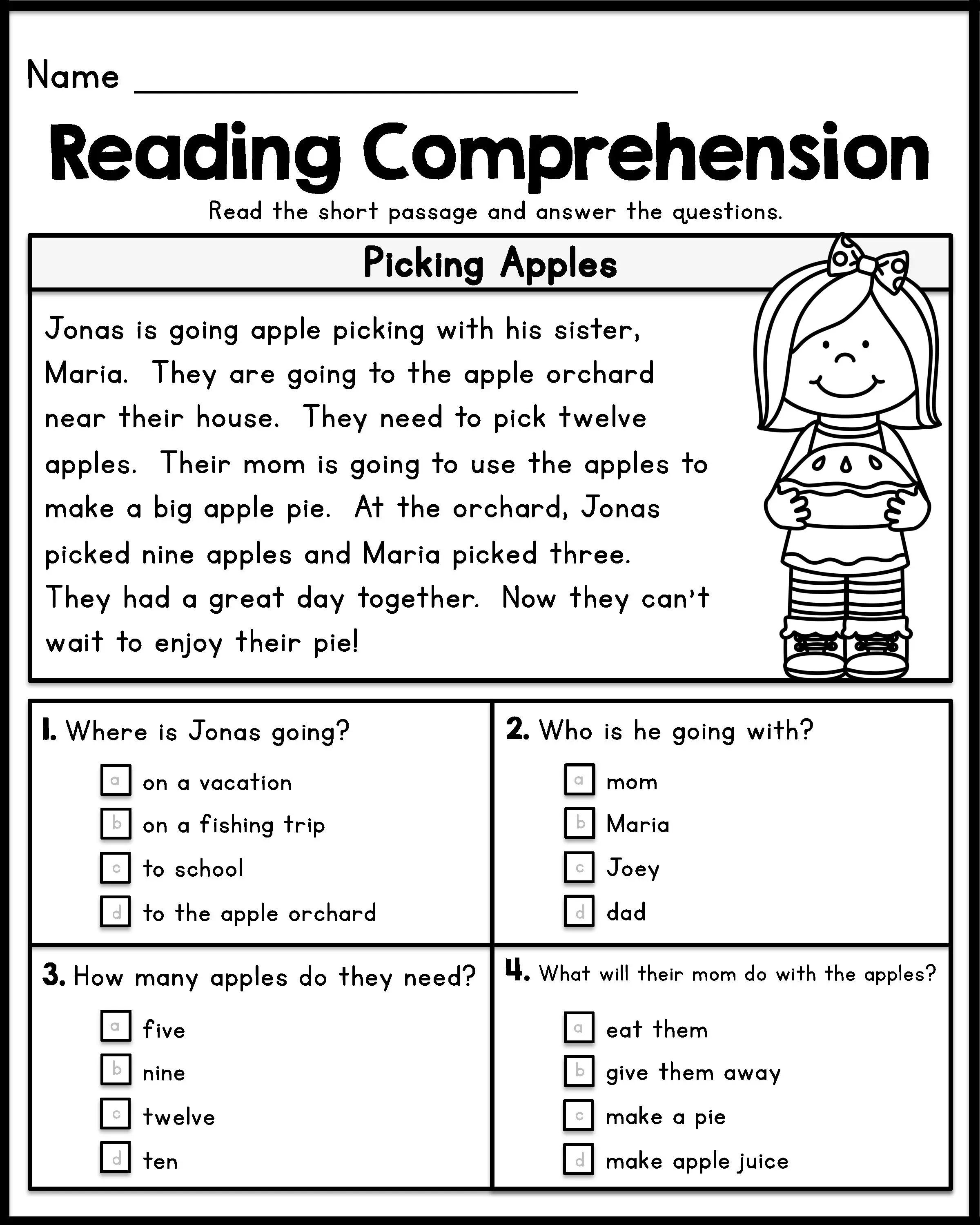 12 Grade Reading Comprehension Worksheet