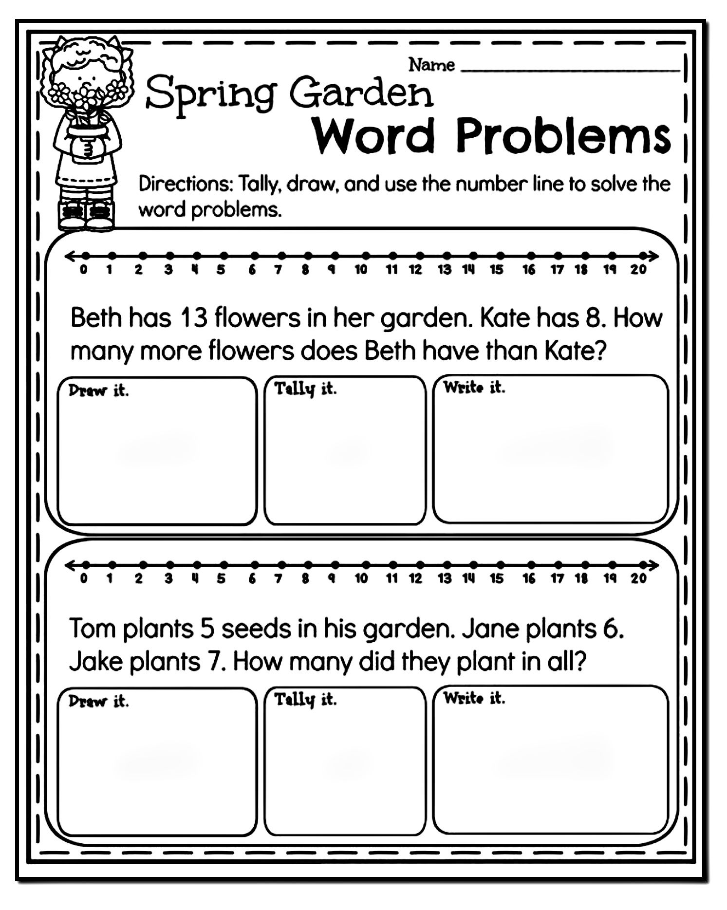 7th Grade Word Problem Worksheet