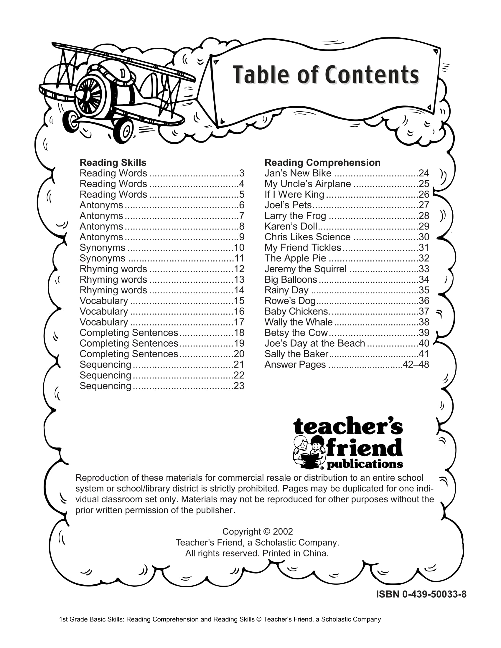 40 Scholastic 1st Grade Reading Comprehension Skills Worksheets