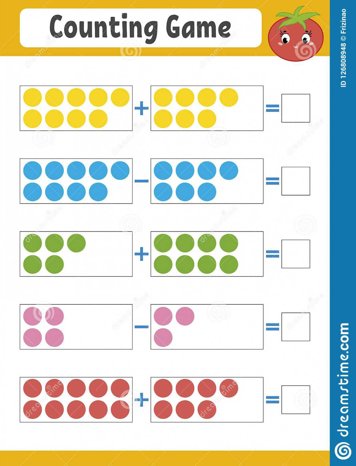 Addition And Subtraction Games Worksheets
