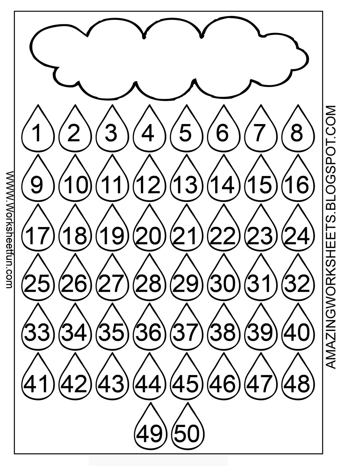 Addition Chart 1 50 Worksheets