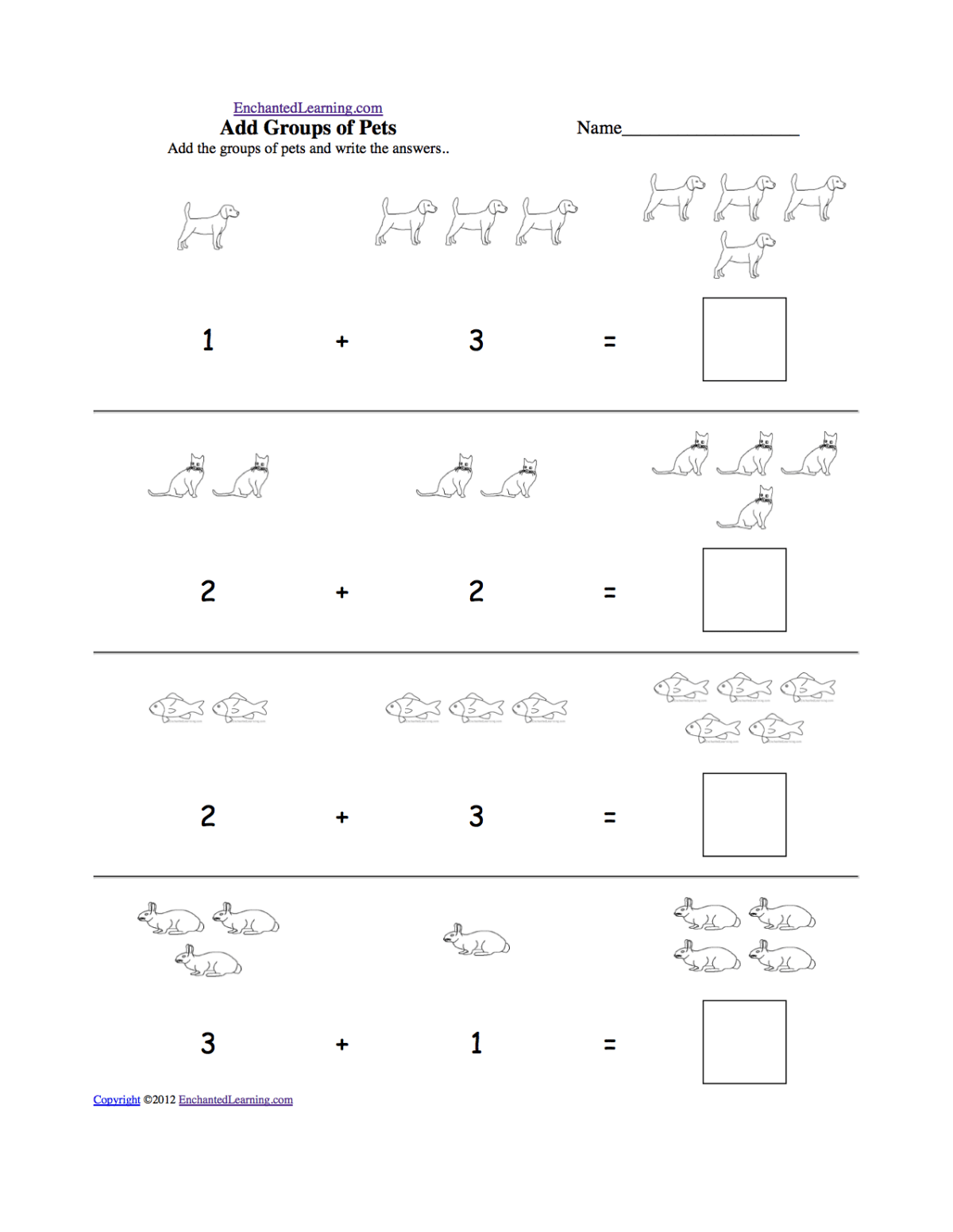 Logic Addition Worksheets