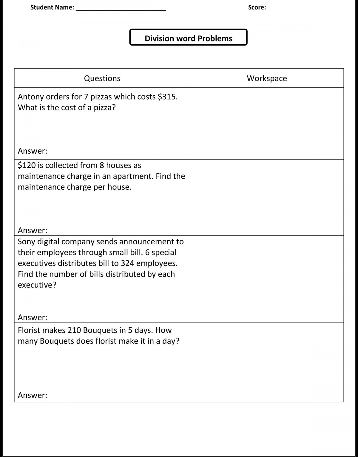 Integer Addition And Subtraction Word Problems Worksheets