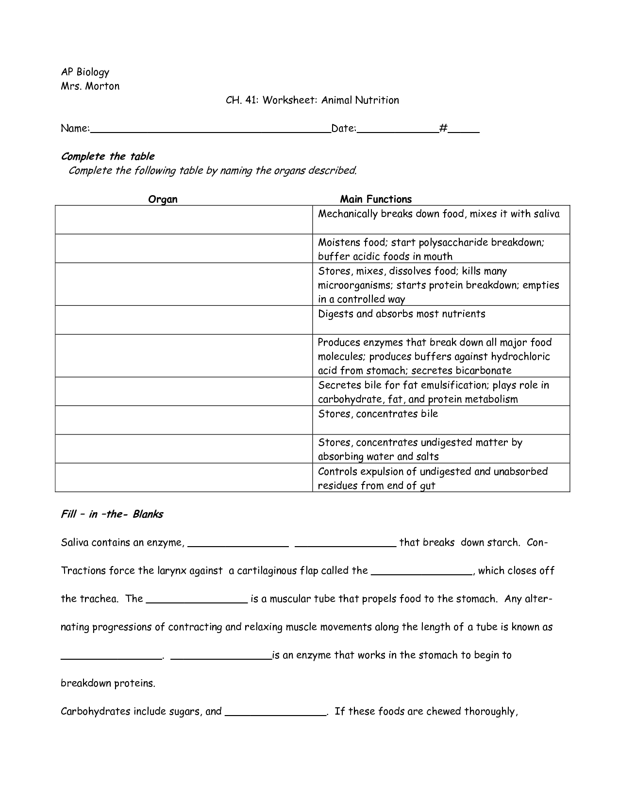 Soil Composition Worksheet