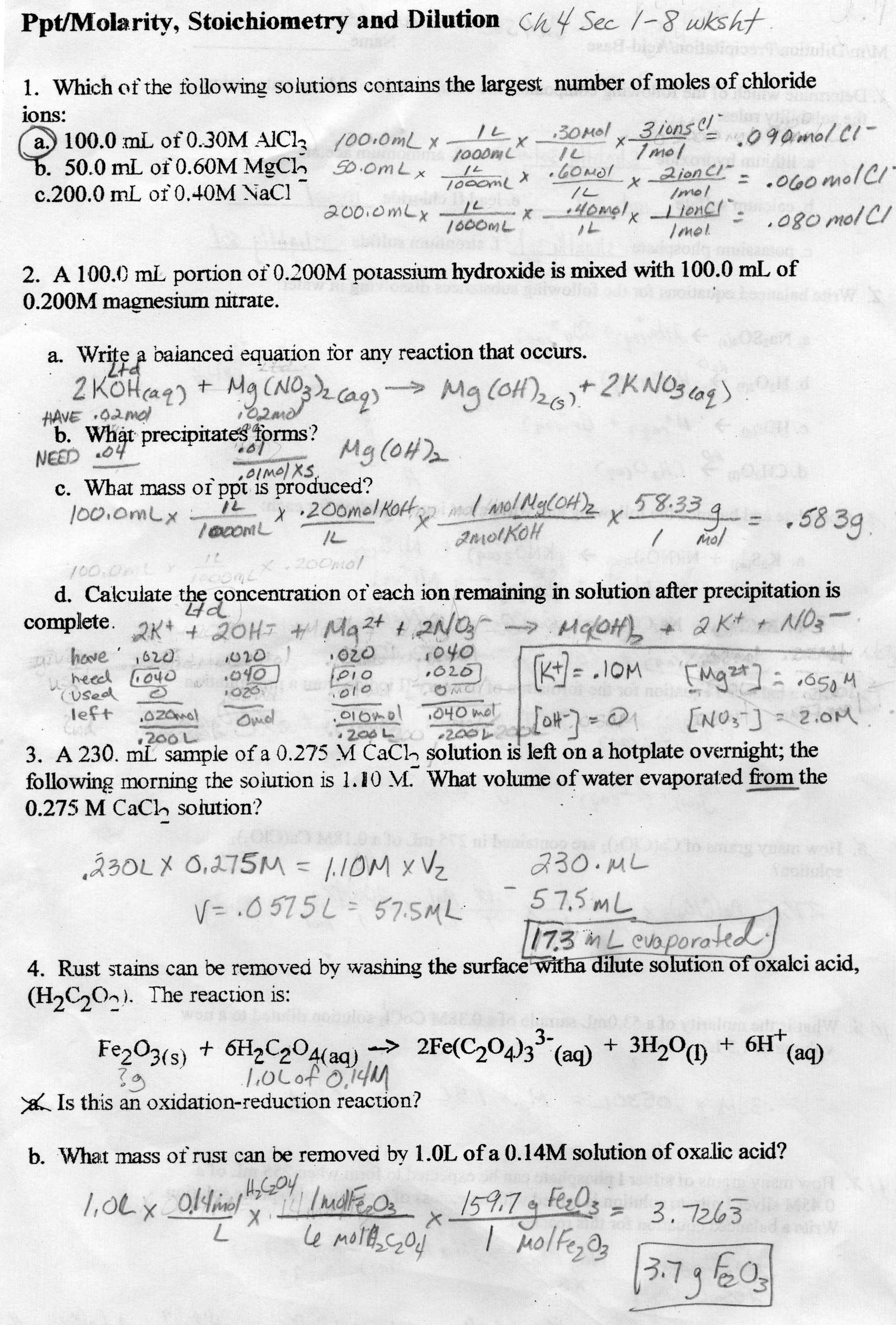 16 Best Images Of Mole Ratio Worksheet Answer Key Ch 12