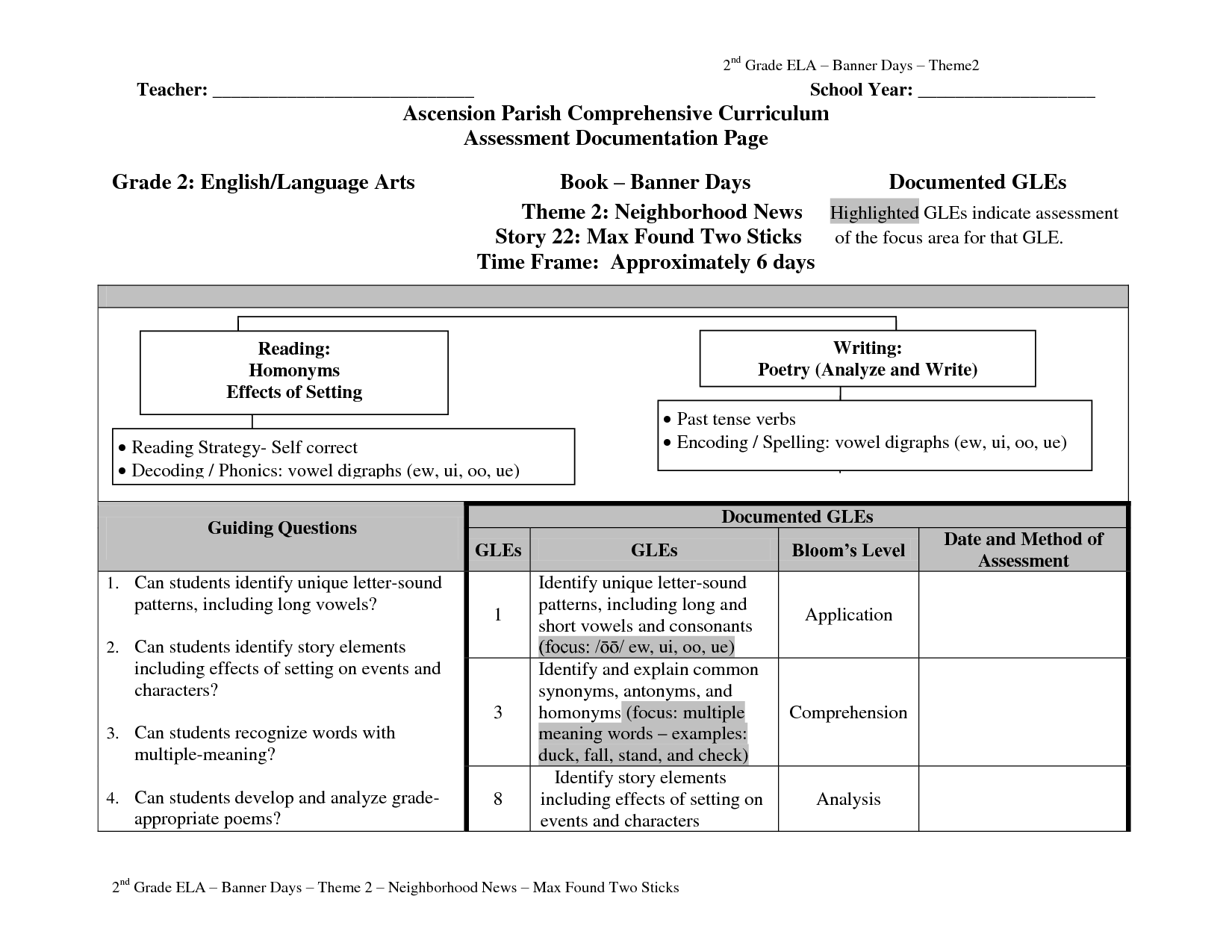 12 Best Images Of 1 Grade Language Arts Worksheets