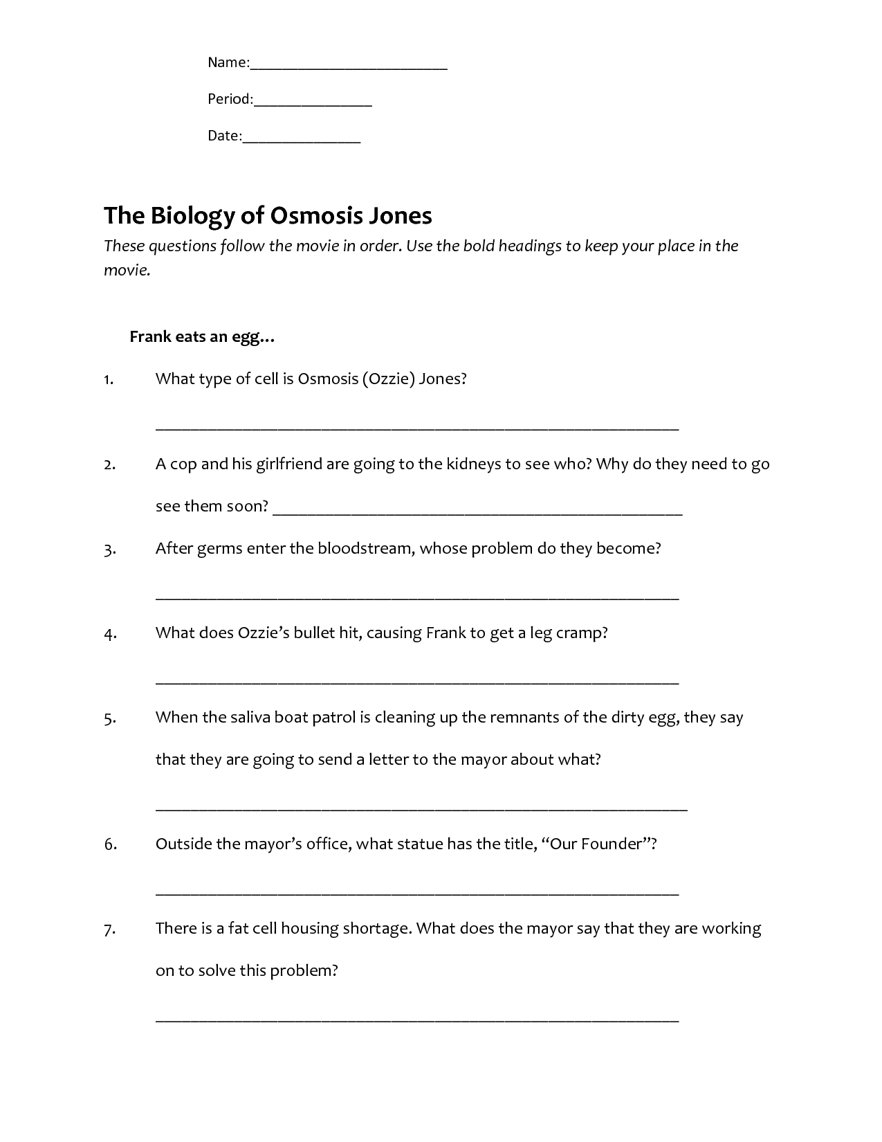 9 Best Images Of Osmosis Jones Worksheet Answer Key