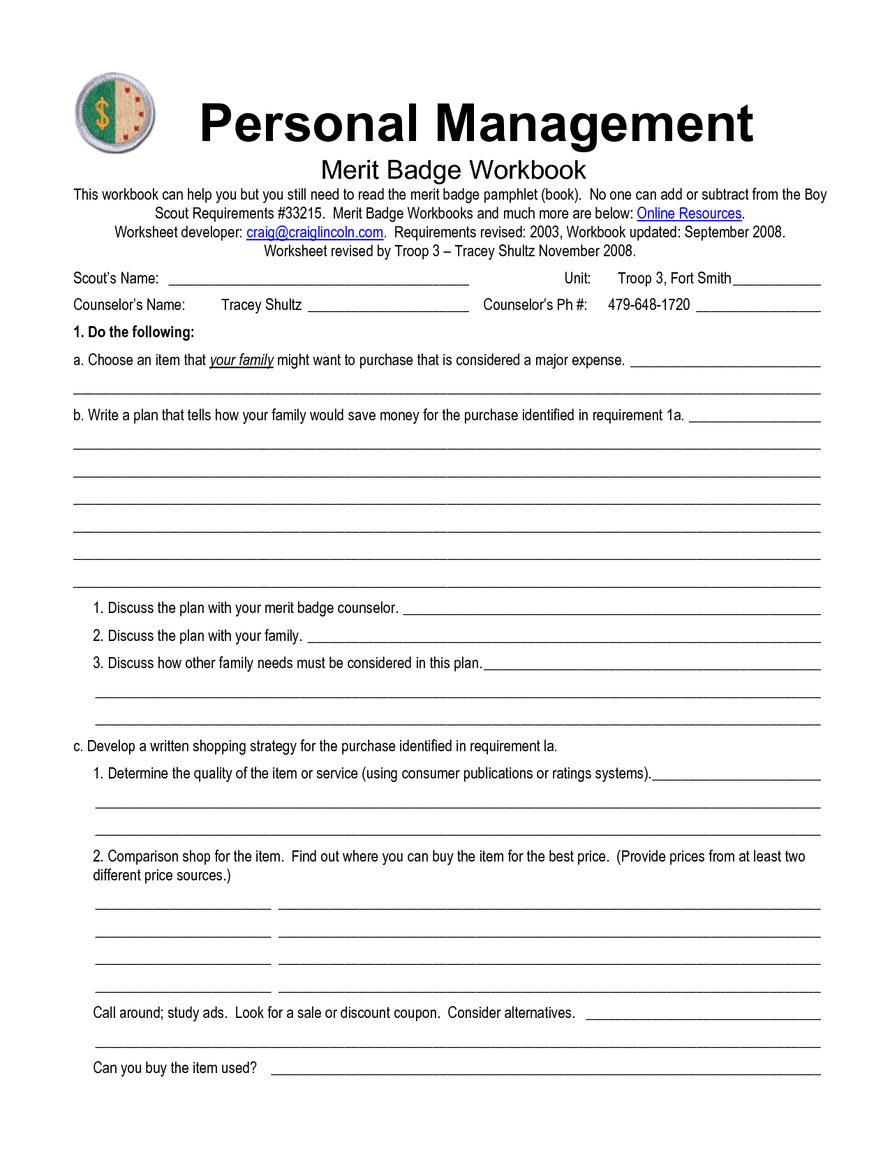 5 Best Images Of Boy Scout Merit Badge Worksheets
