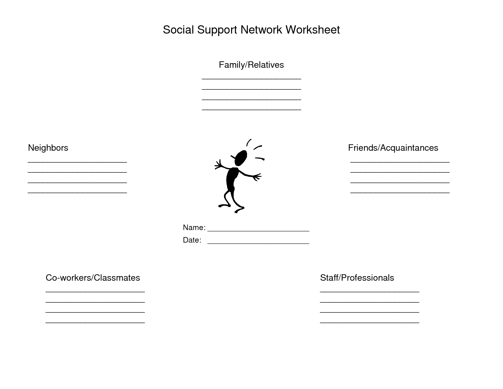 14 Best Images Of Support Systems Mental Health Worksheets