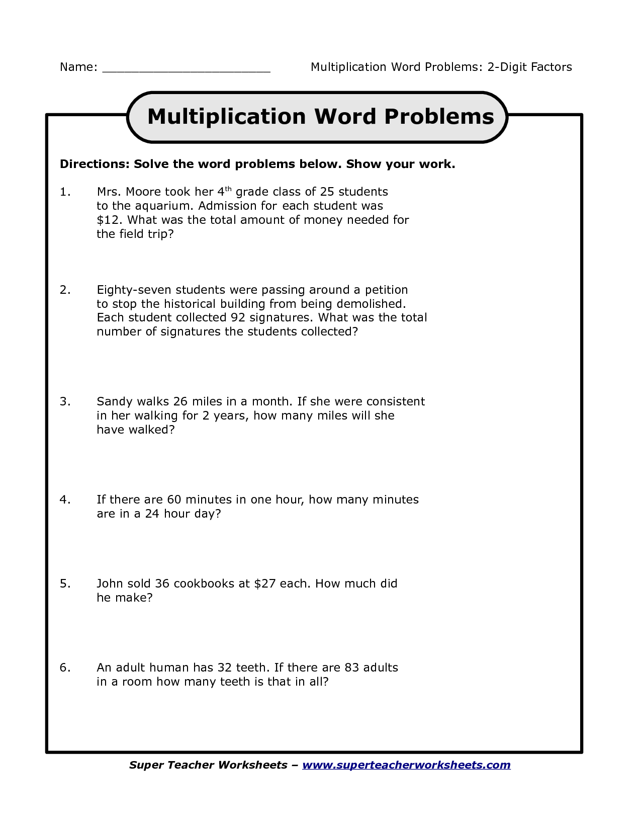 Problem Solving Fourth Grade Fourth Grade Lesson Dog