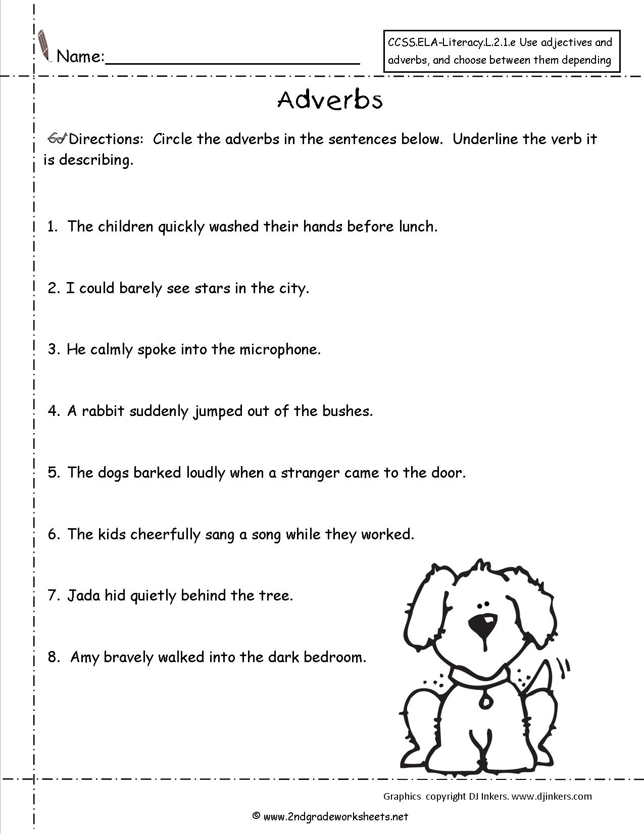 13 Best Images Of Grammar Adverb Worksheets