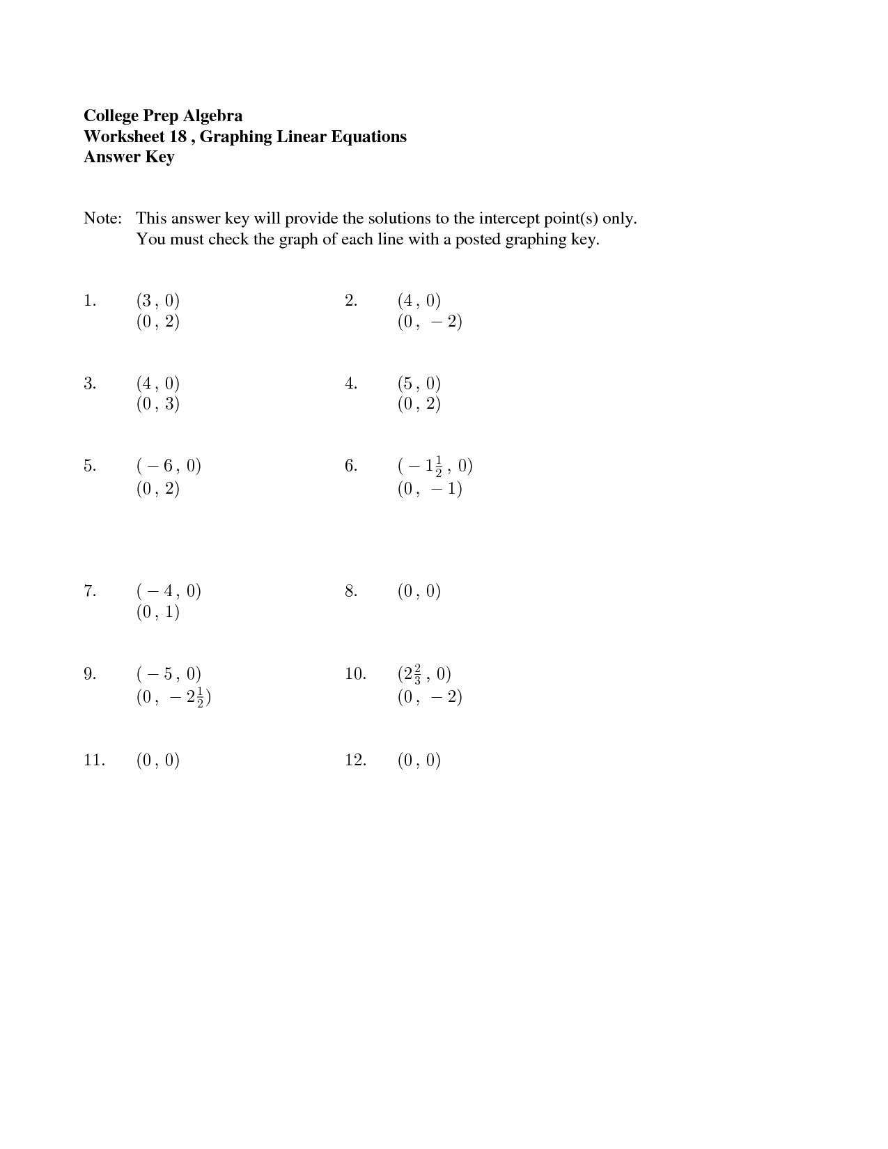 16 Best Images Of College Math Worksheets