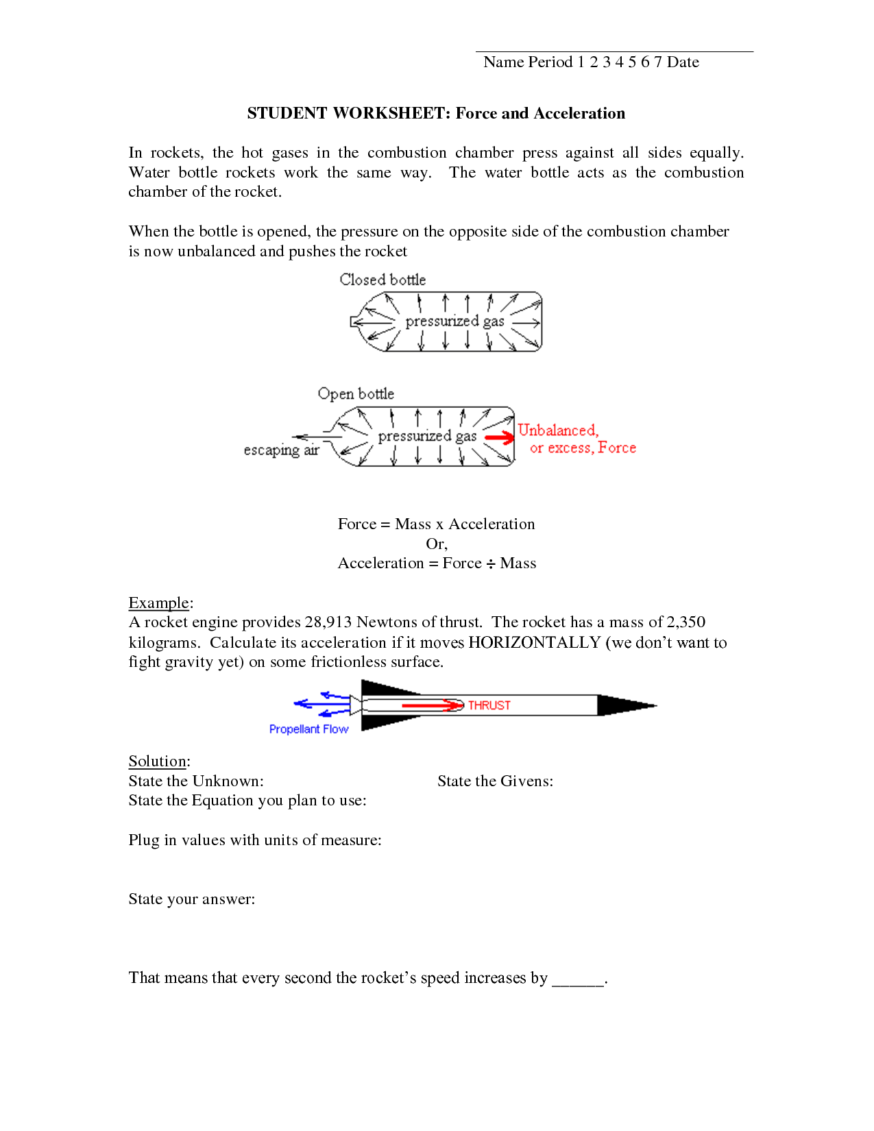 6 Best Images Of Speed And Velocity Worksheets With