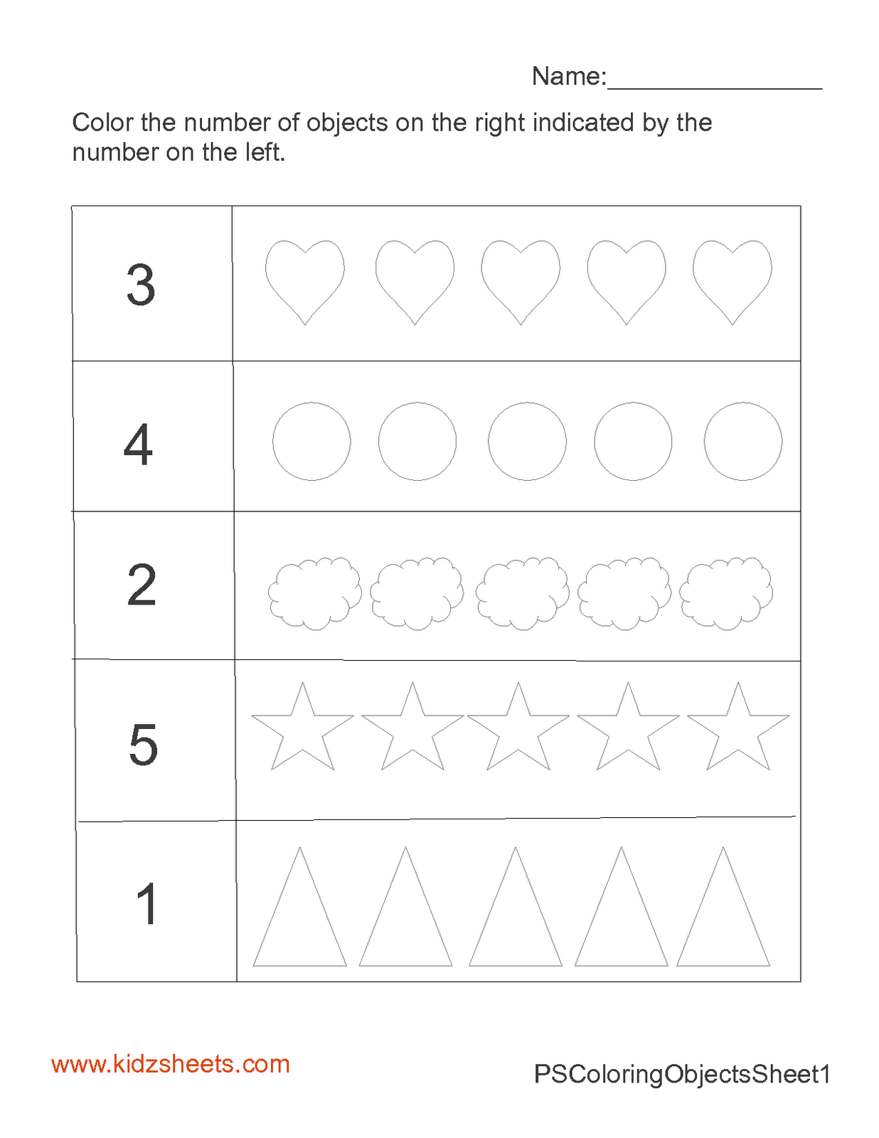16 Best Images Of Kindergarten Counting Worksheets 1 5