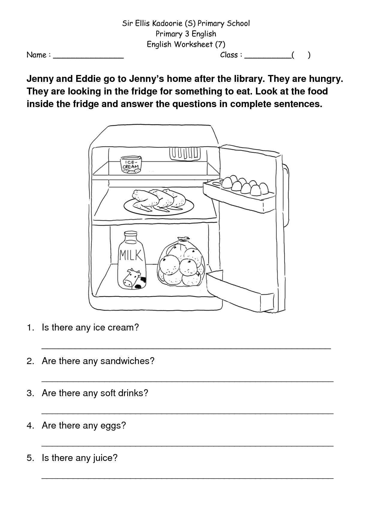 Prehension Worksheet For Year 4