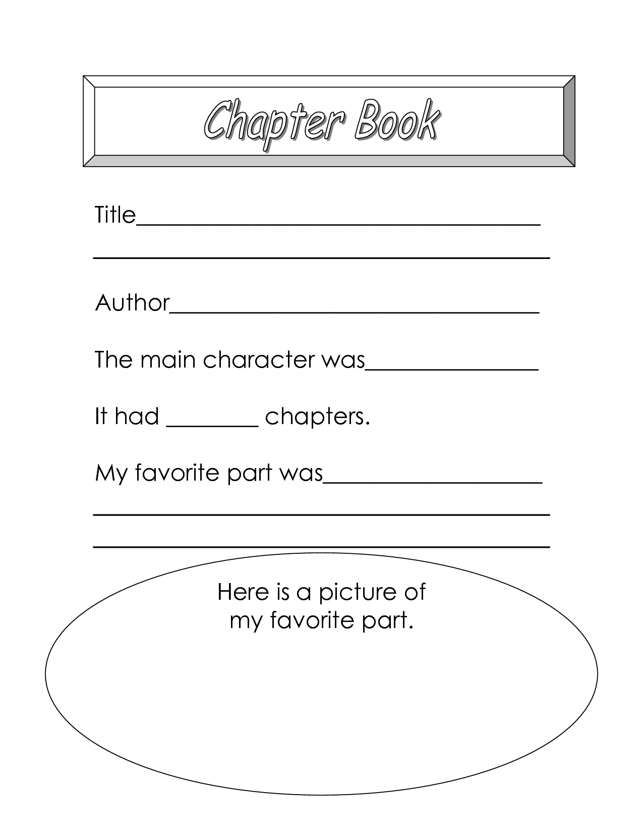 5 Best Images Of My Favorite Book Worksheet