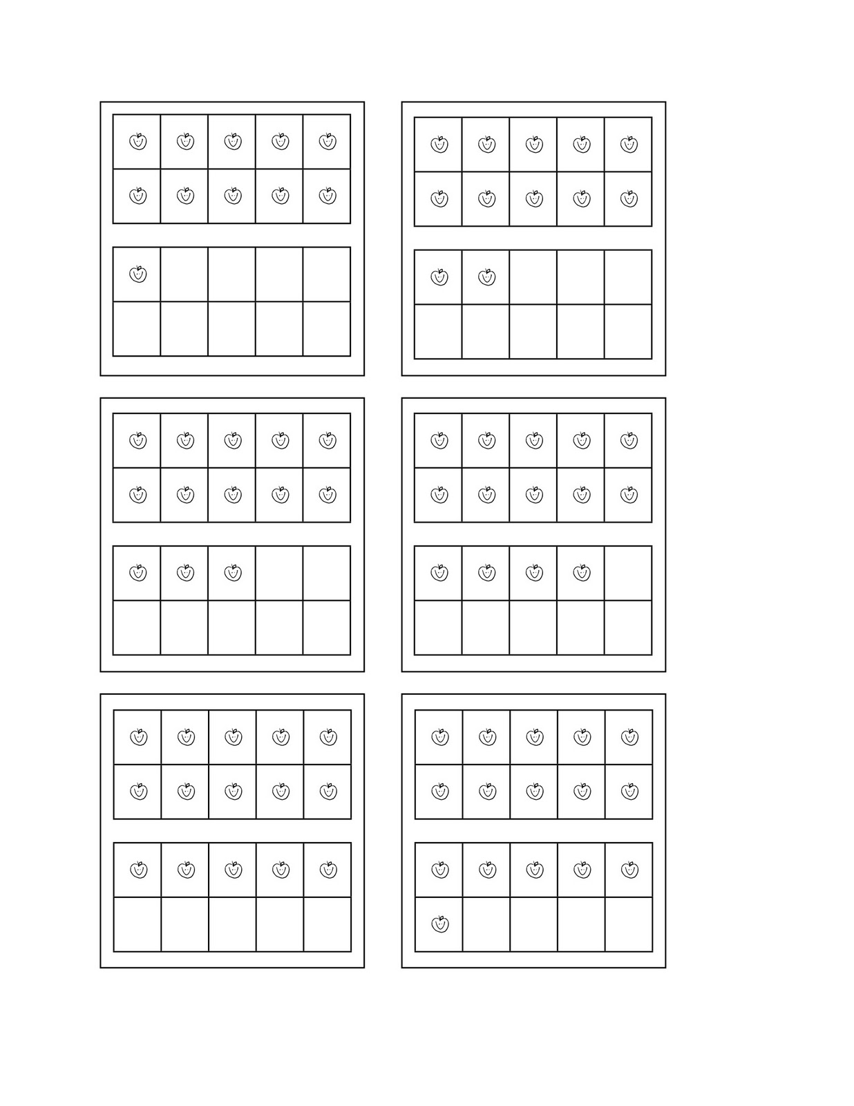 13 Best Images Of 10 Frame Worksheet Printable