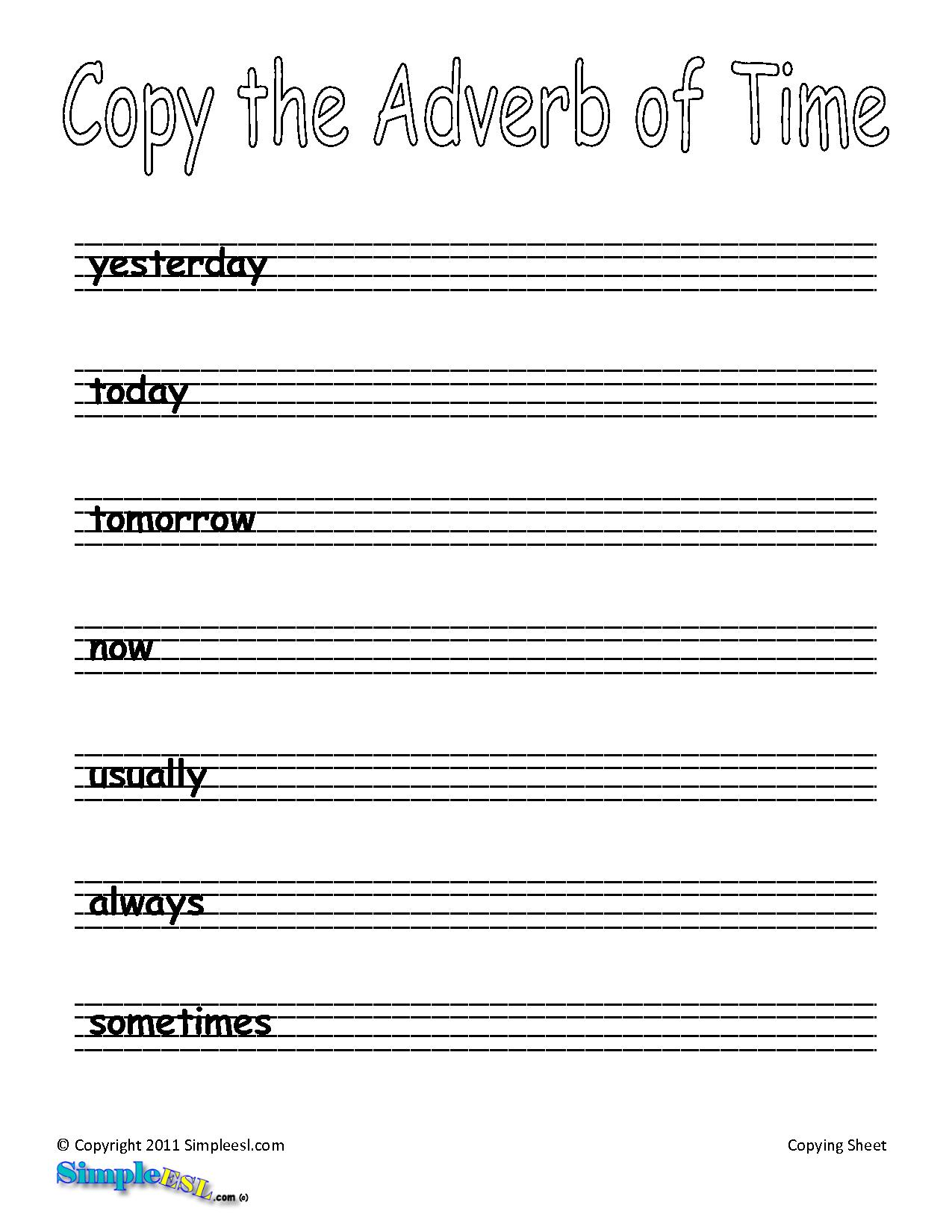 11 Best Images Of Esl Writing Exercises Worksheet