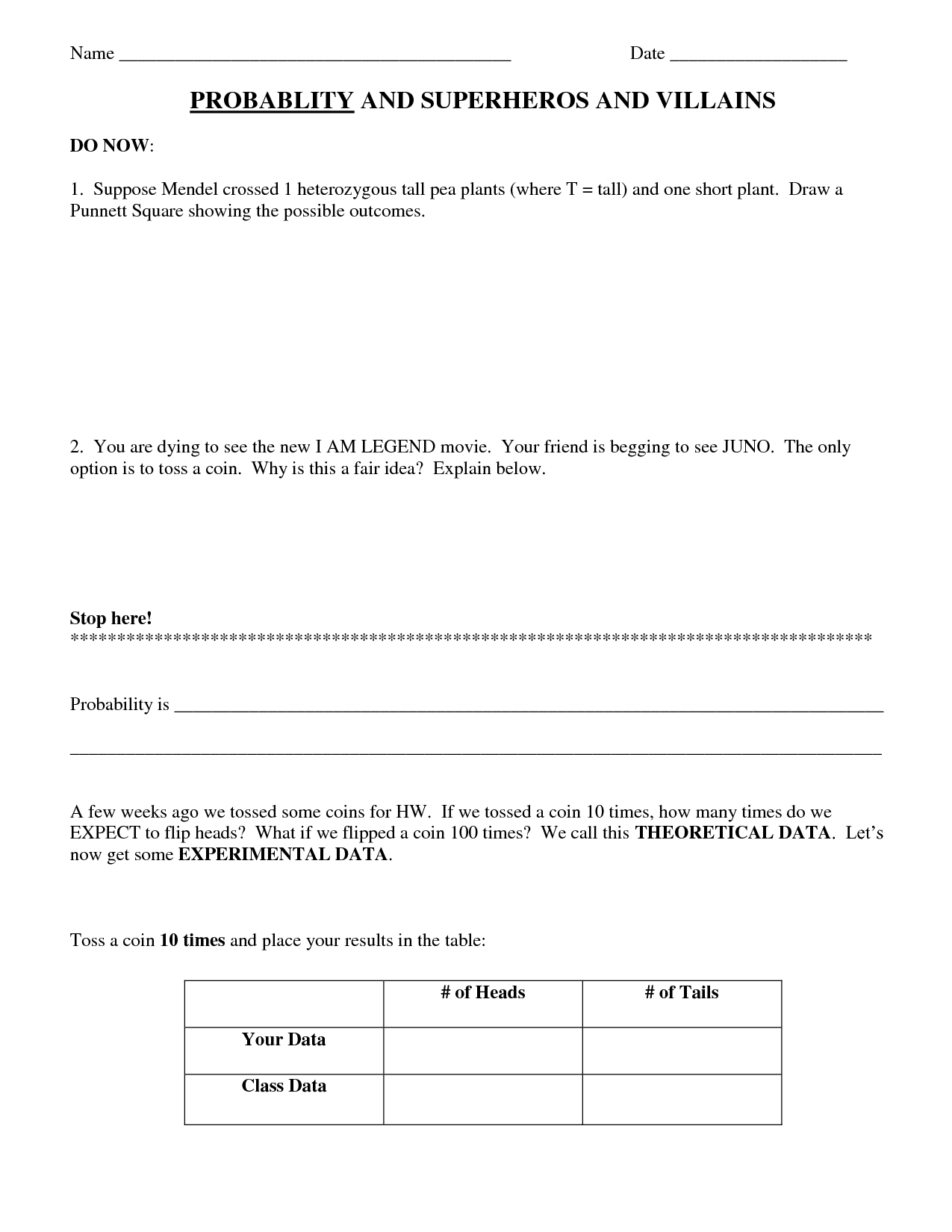Forensic Science Lab Worksheet