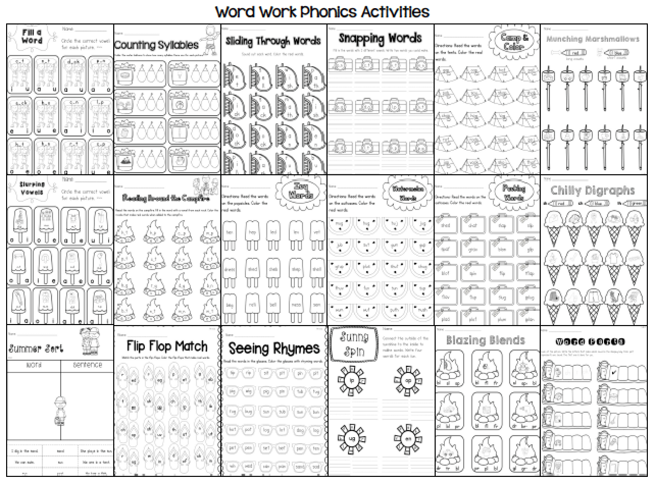 Fun Packet 1st Grade Worksheet