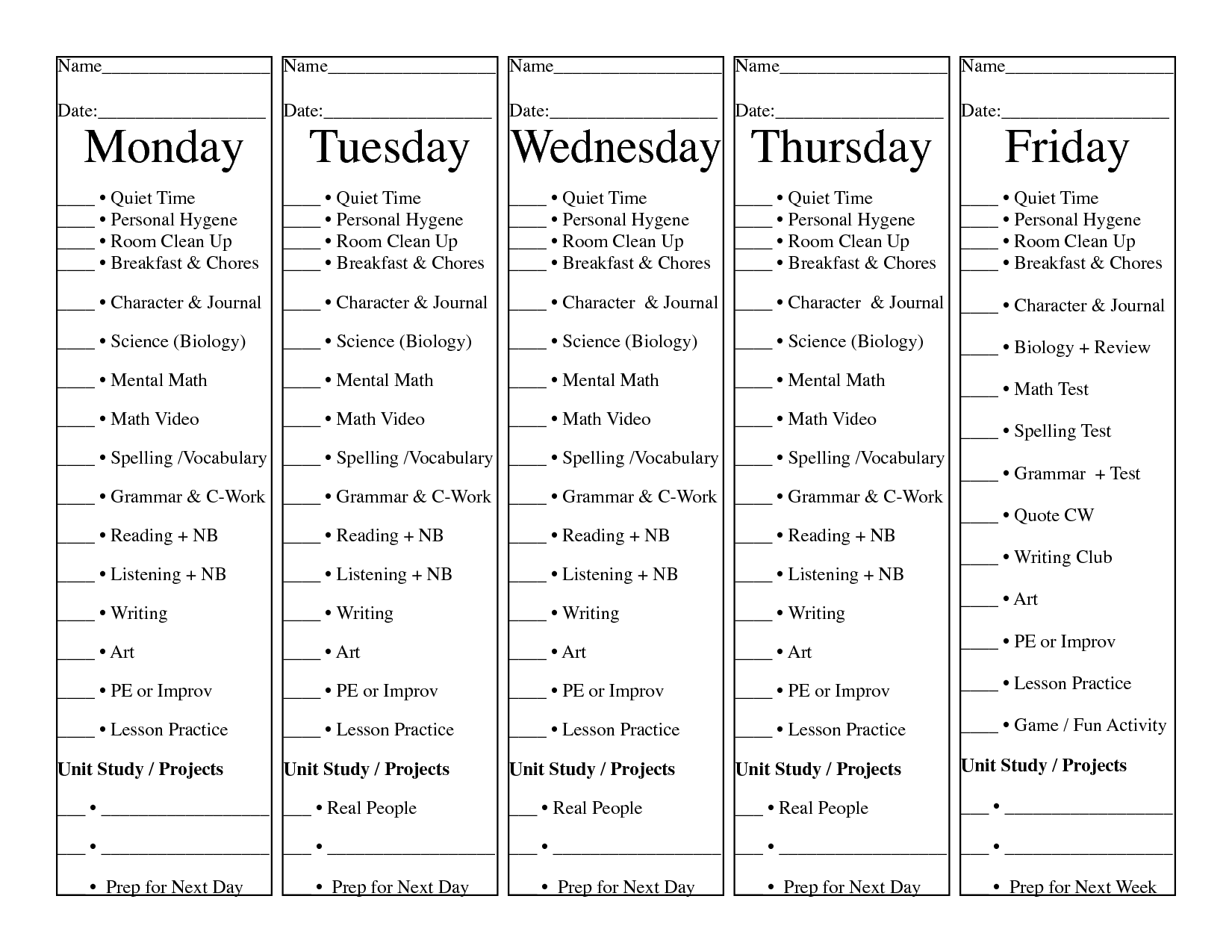 16 Best Images Of Daily Menu Worksheet