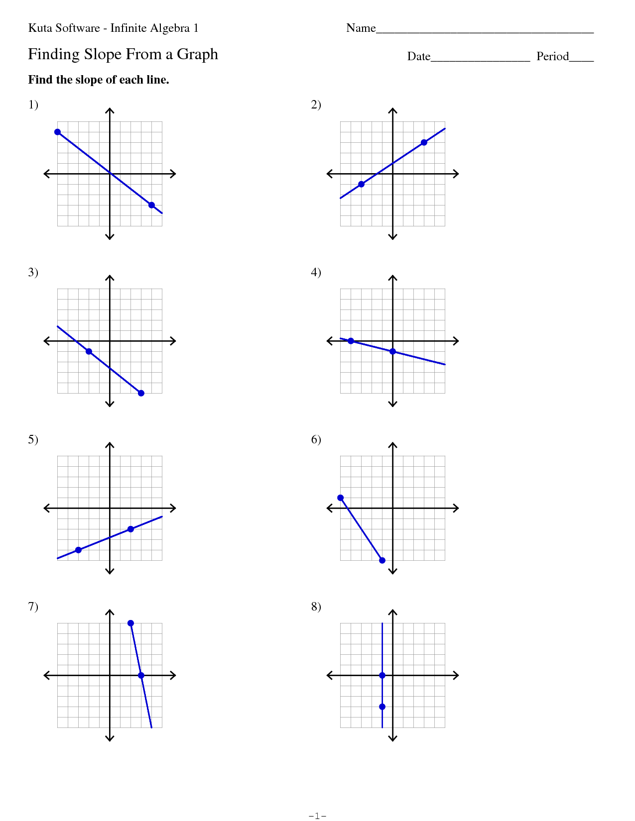 11 Best Images Of Math Slope Worksheets