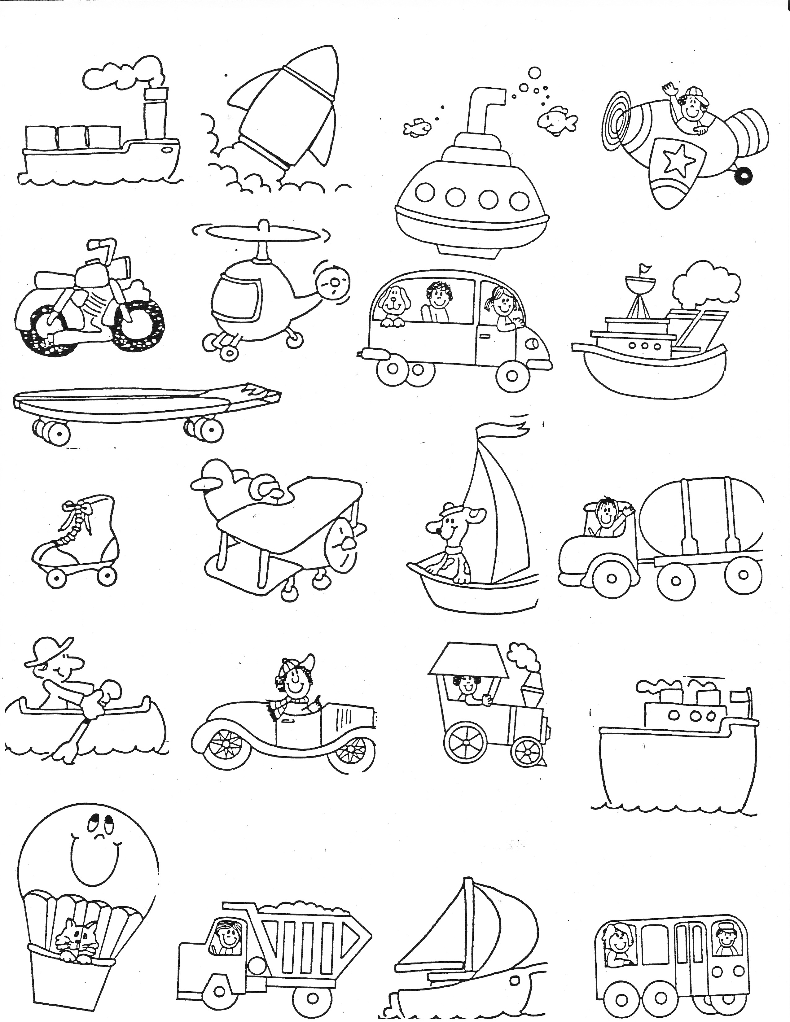 14 Best Images Of Worksheets Transportation Matching