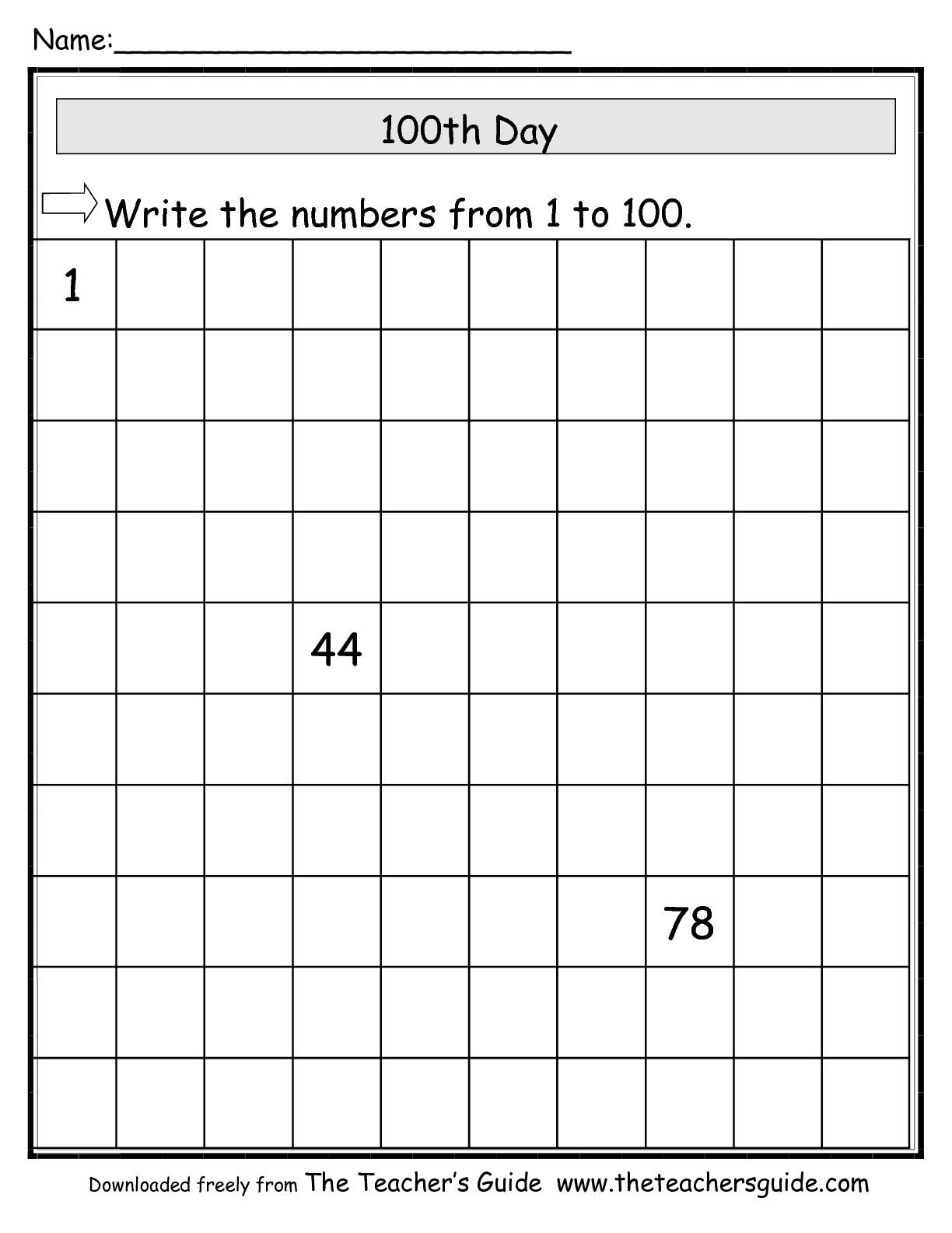 15 Best Images Of Fill Missing Number Worksheets