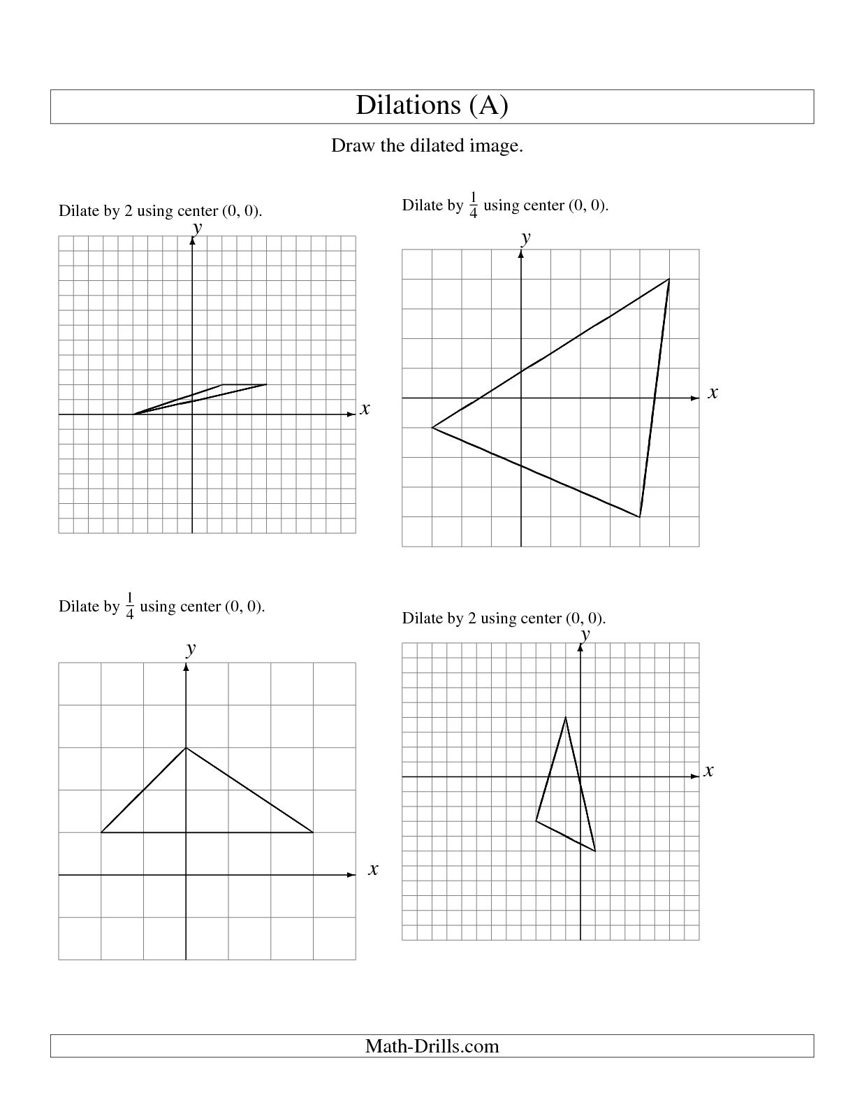 Translation Math Worksheet