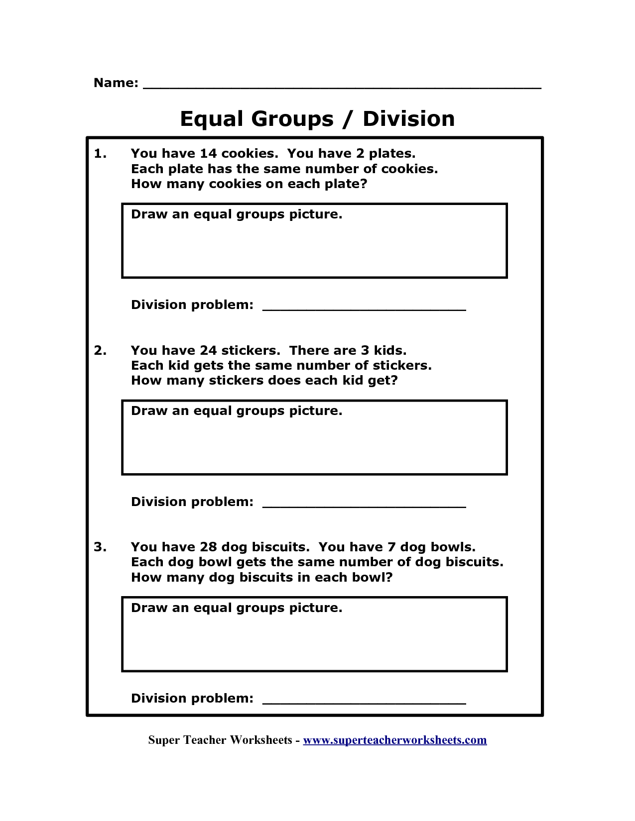 8 Best Images Of Equal Groups Math Worksheets