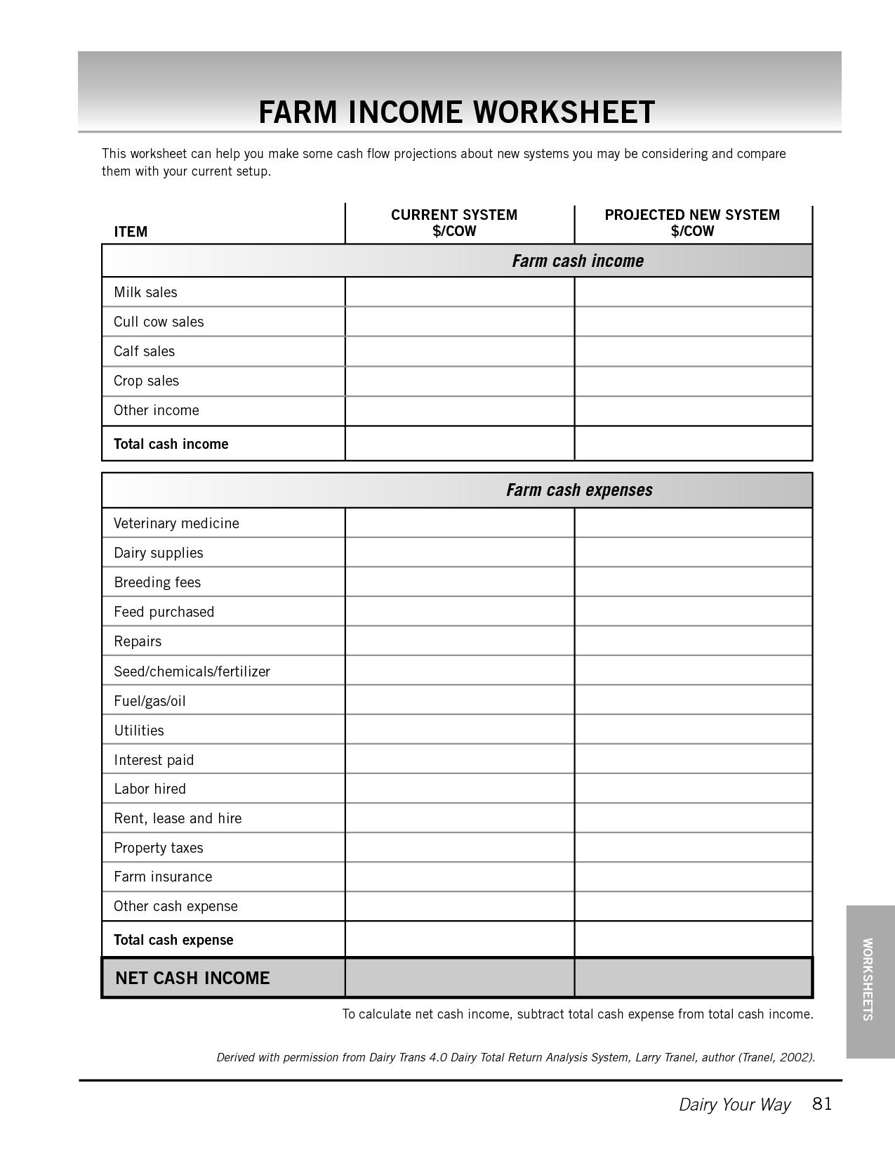 Farm Tools Worksheet