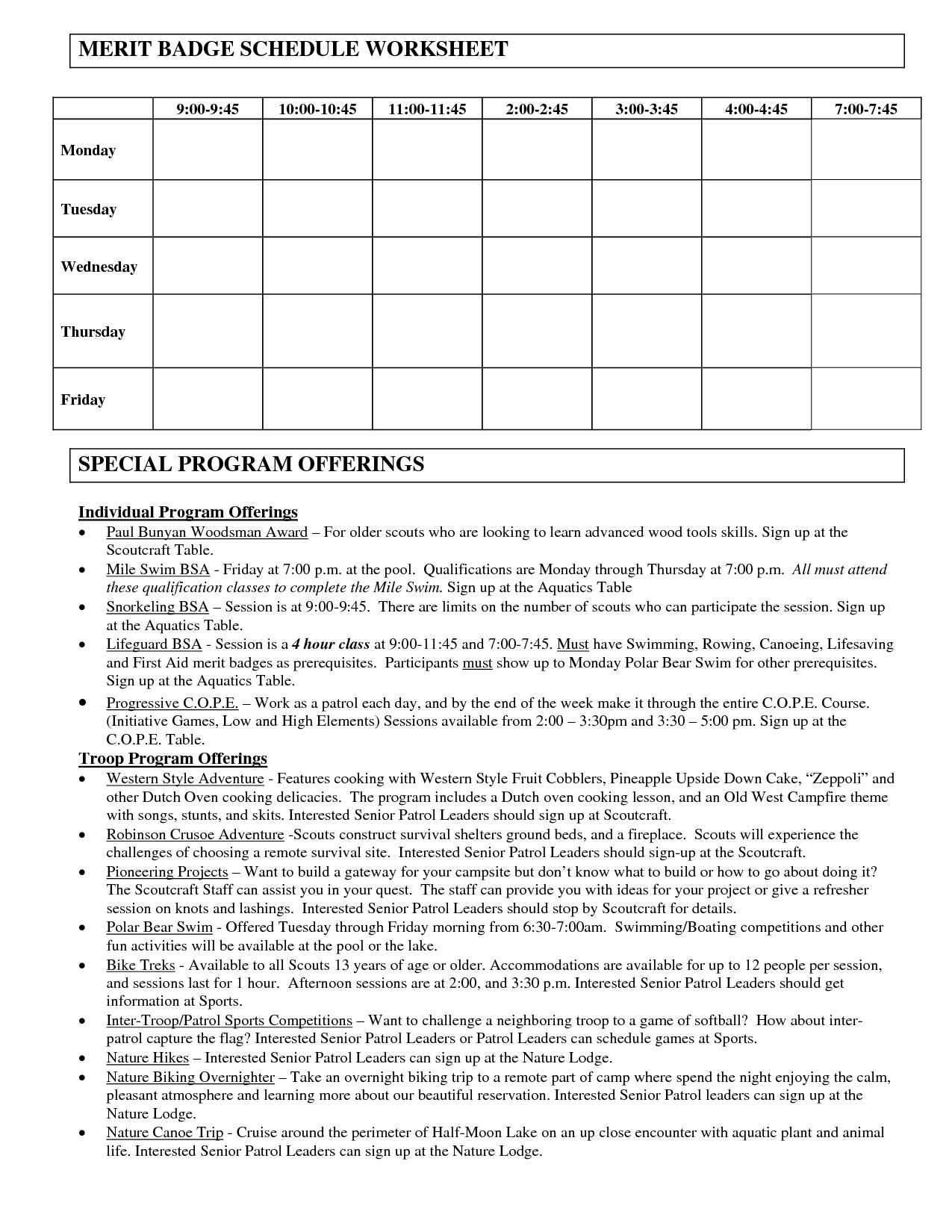 29 Personal Management Merit Badge Worksheet