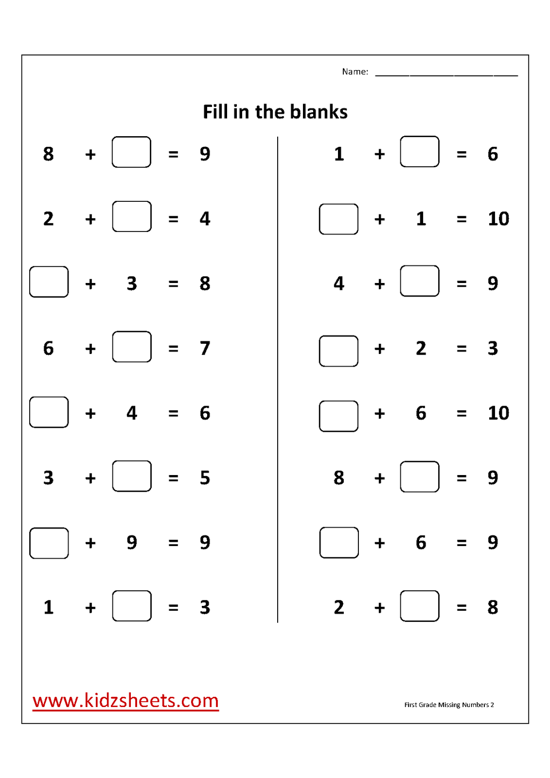 14 Best Images Of Free Printable Number Bond Worksheets