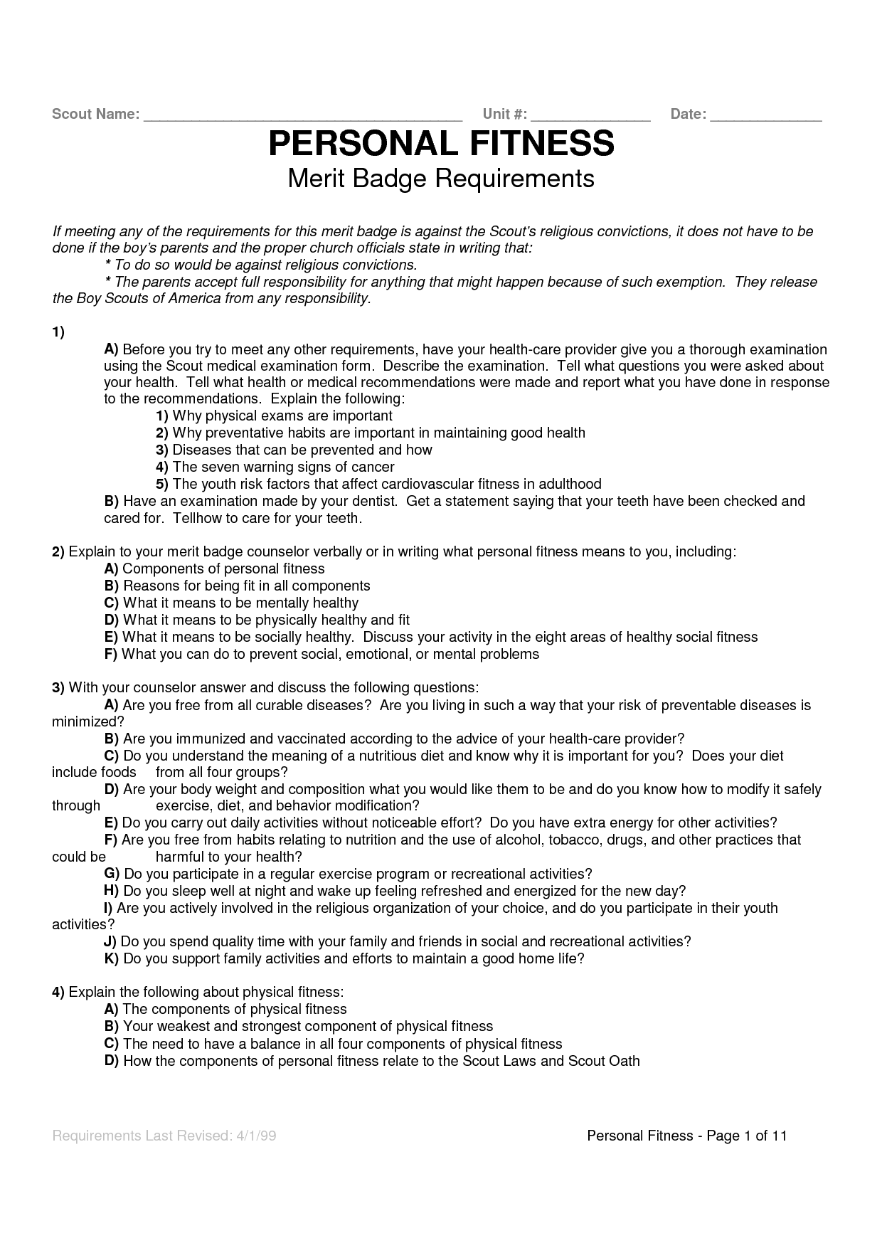 Personal Management Worksheet Answers Printable