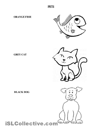 11 Best Images Of Animals Worksheets For Kindergarten Art