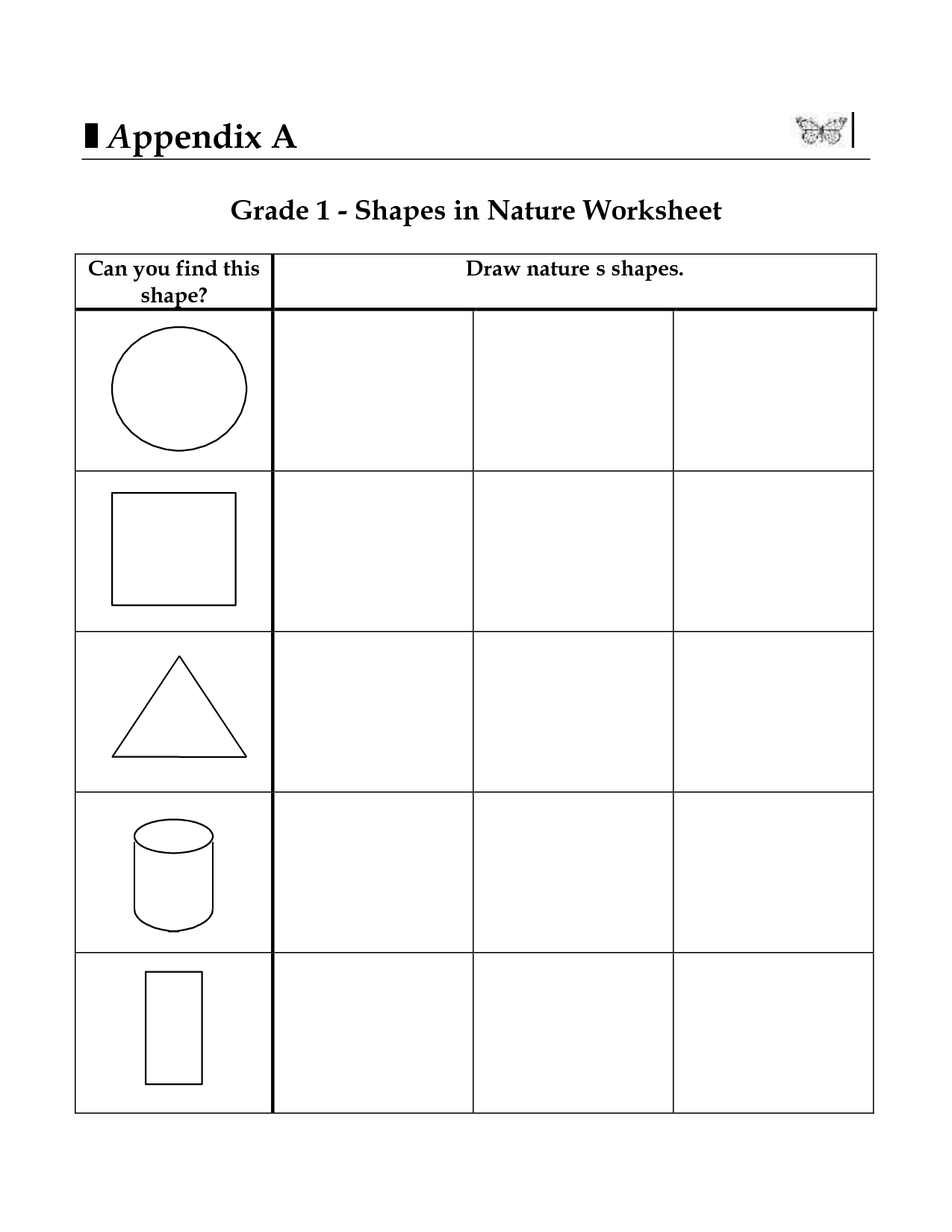 10 Best Images Of Shapes Worksheets For 3rd Grade