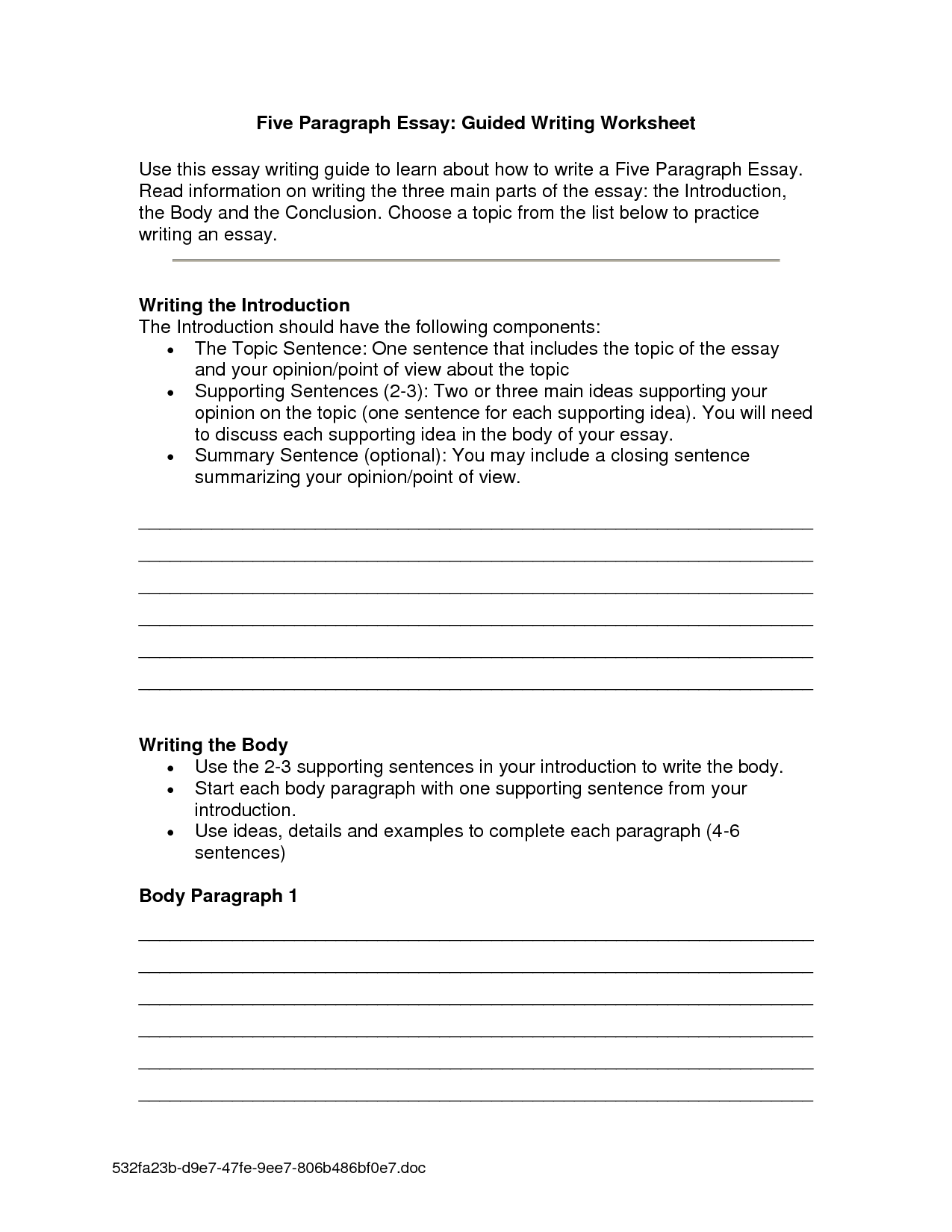 26 How To Write A Paragraph Worksheet