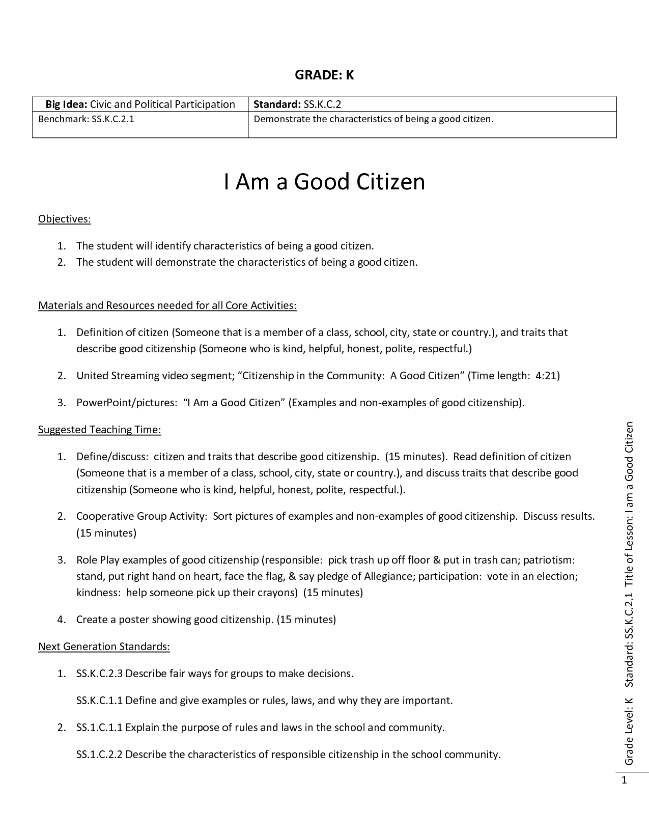 15 Best Images Of Good Citizen Worksheet Grade 2